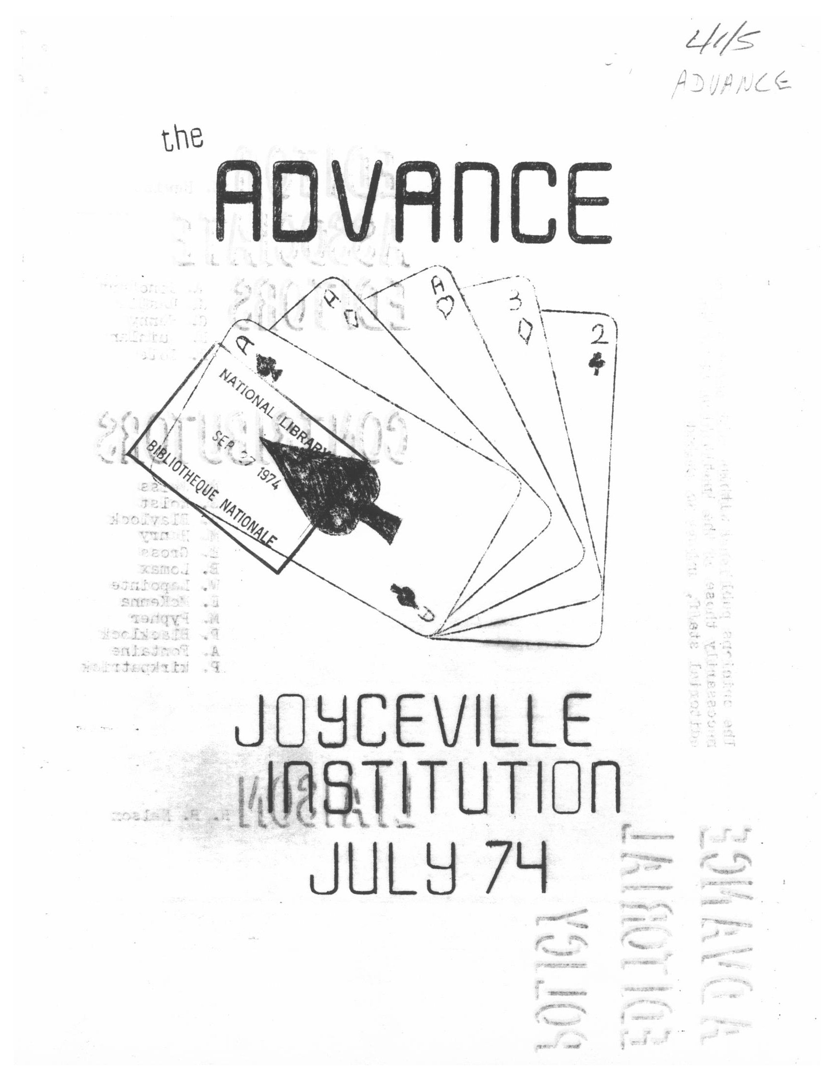 Read more about the article The Advance – July 1974