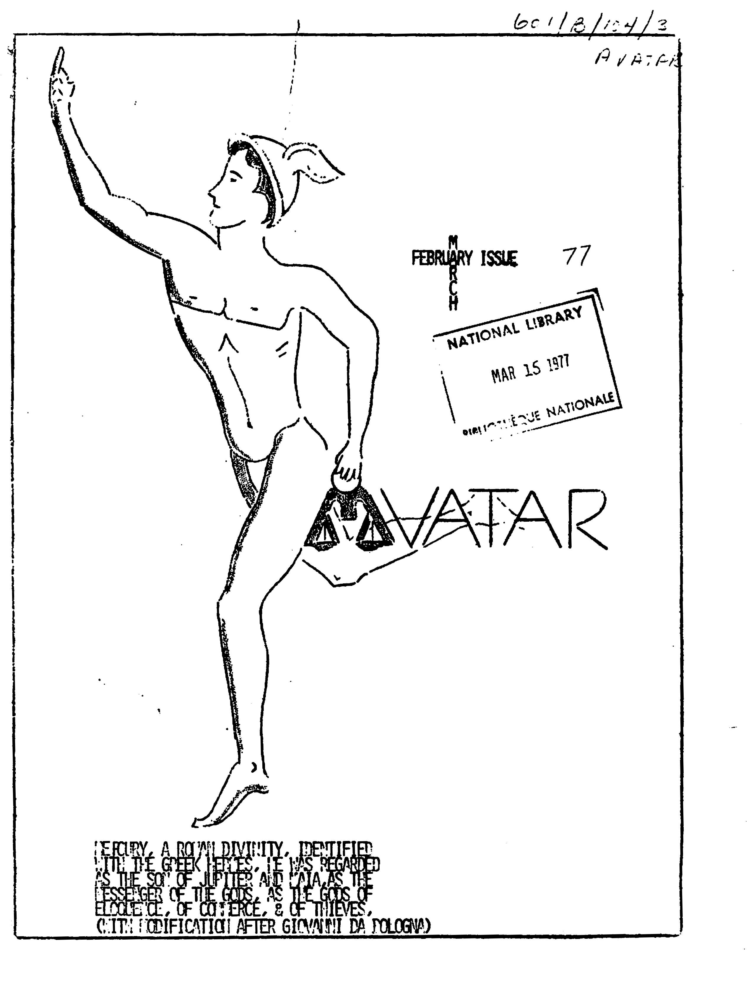 Read more about the article Avatar – Feb/Mar 1977