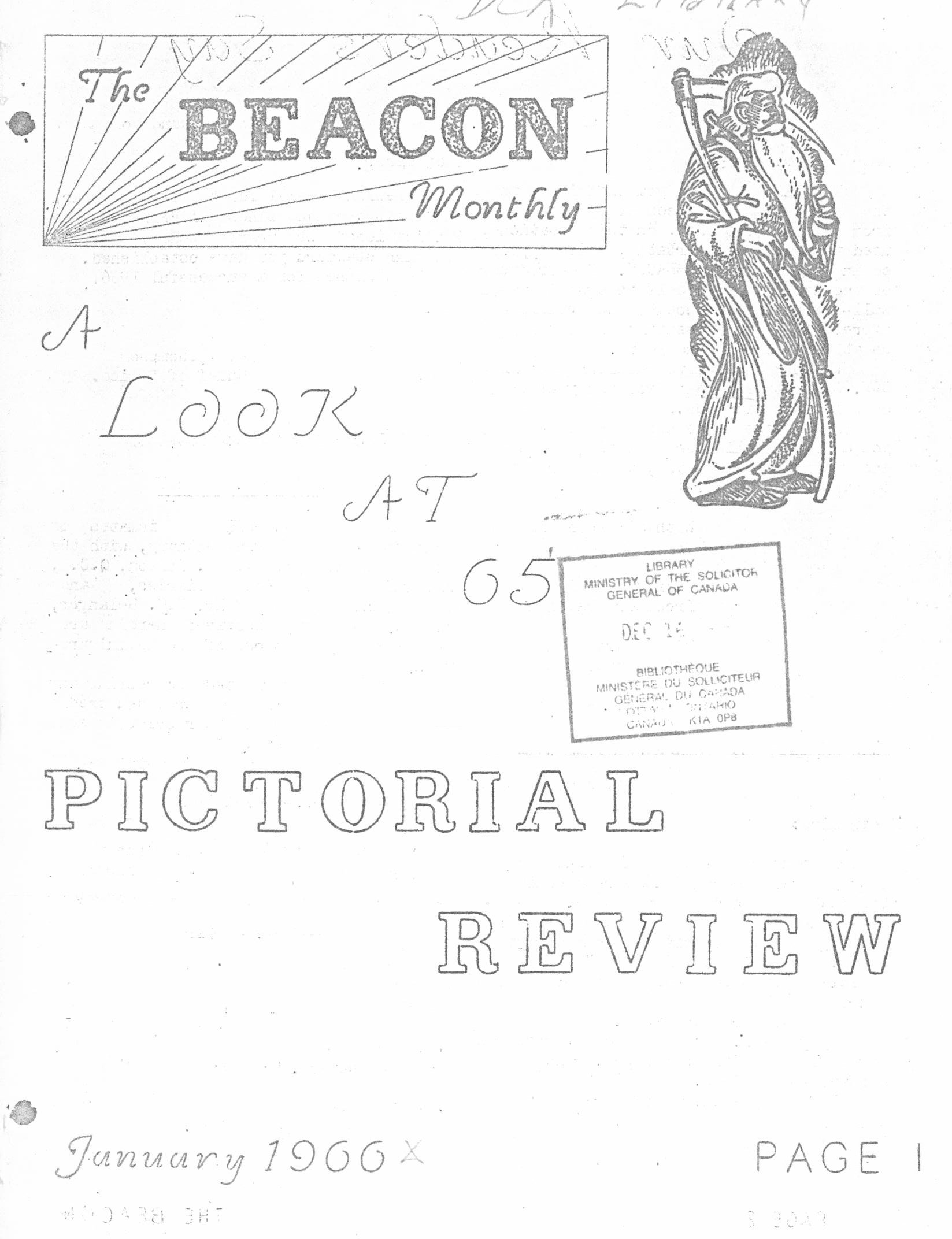 Read more about the article The Beacon Monthly – January 1966