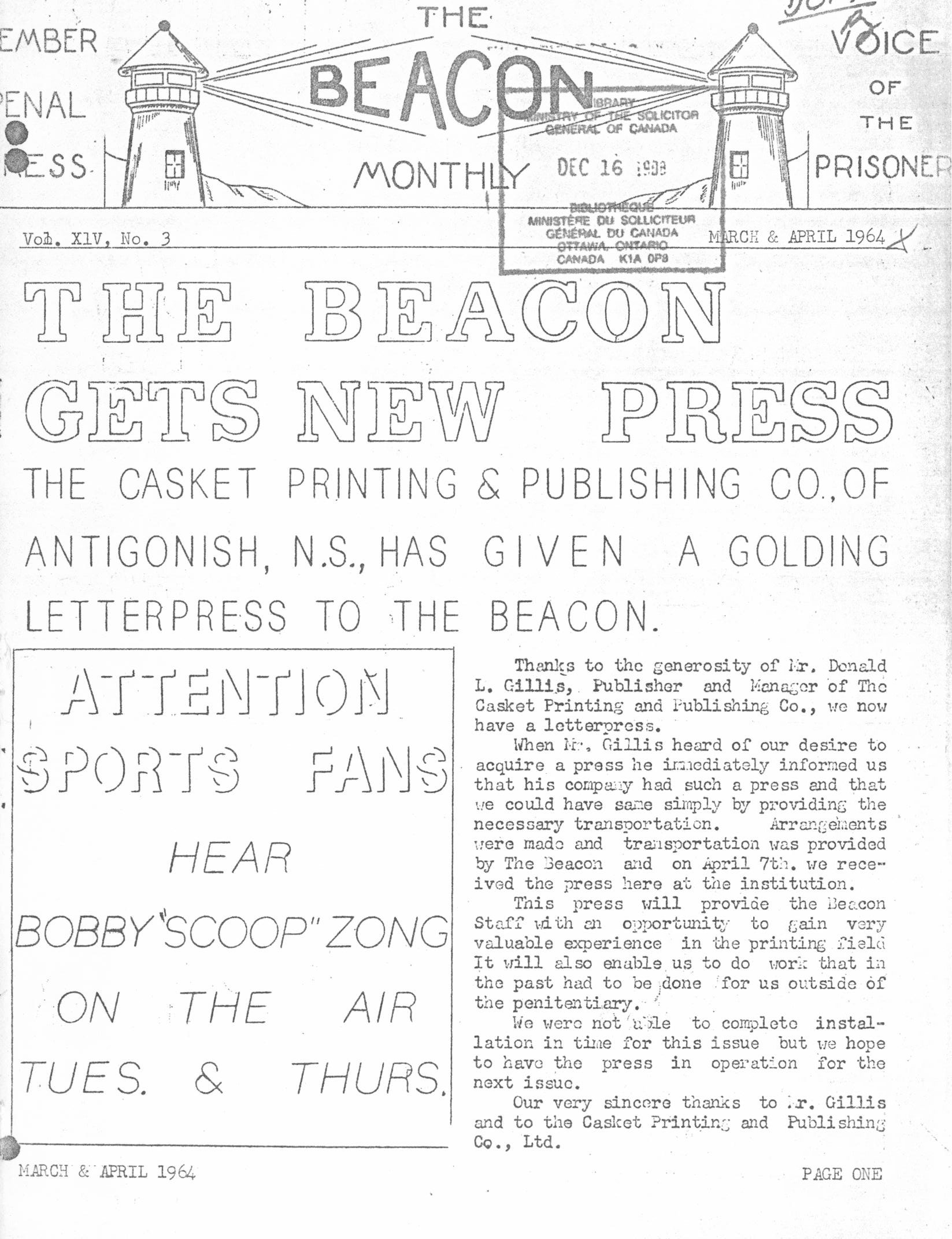 Read more about the article The Beacon Monthly – Mar/Apr 1964