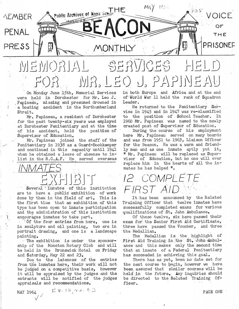 Read more about the article The Beacon Monthly – May 1964
