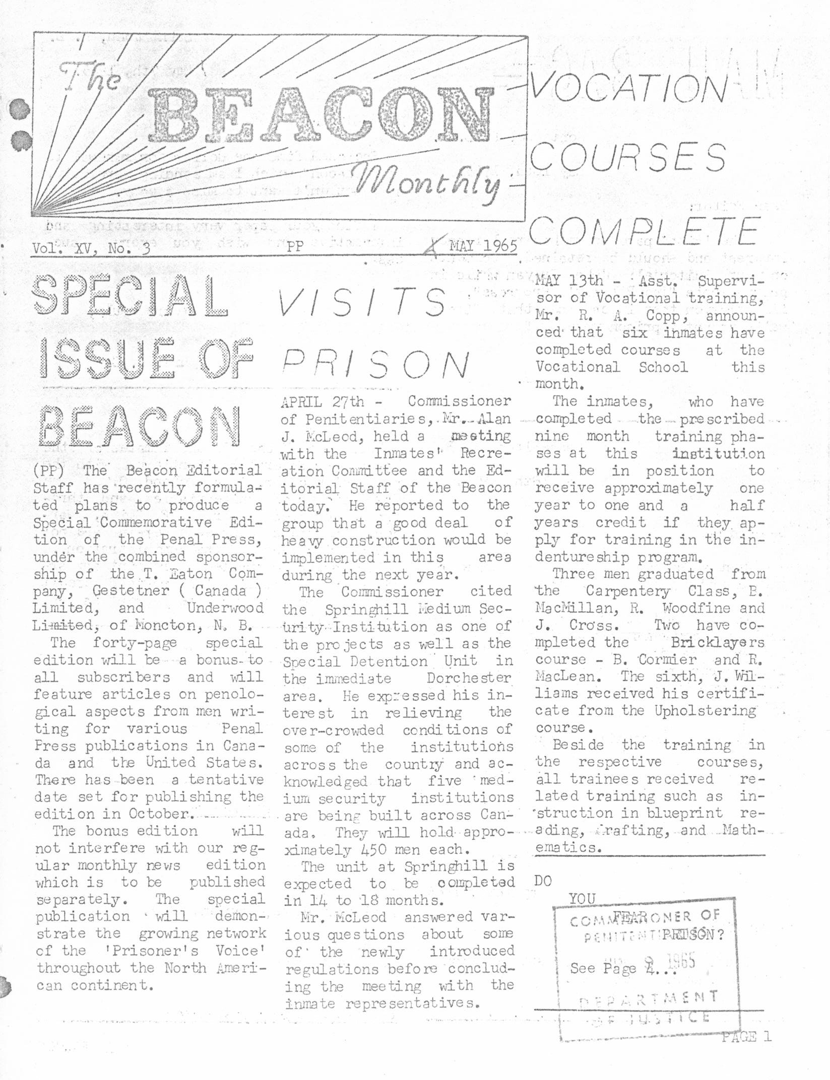 Read more about the article The Beacon Monthly v.Xv(3)