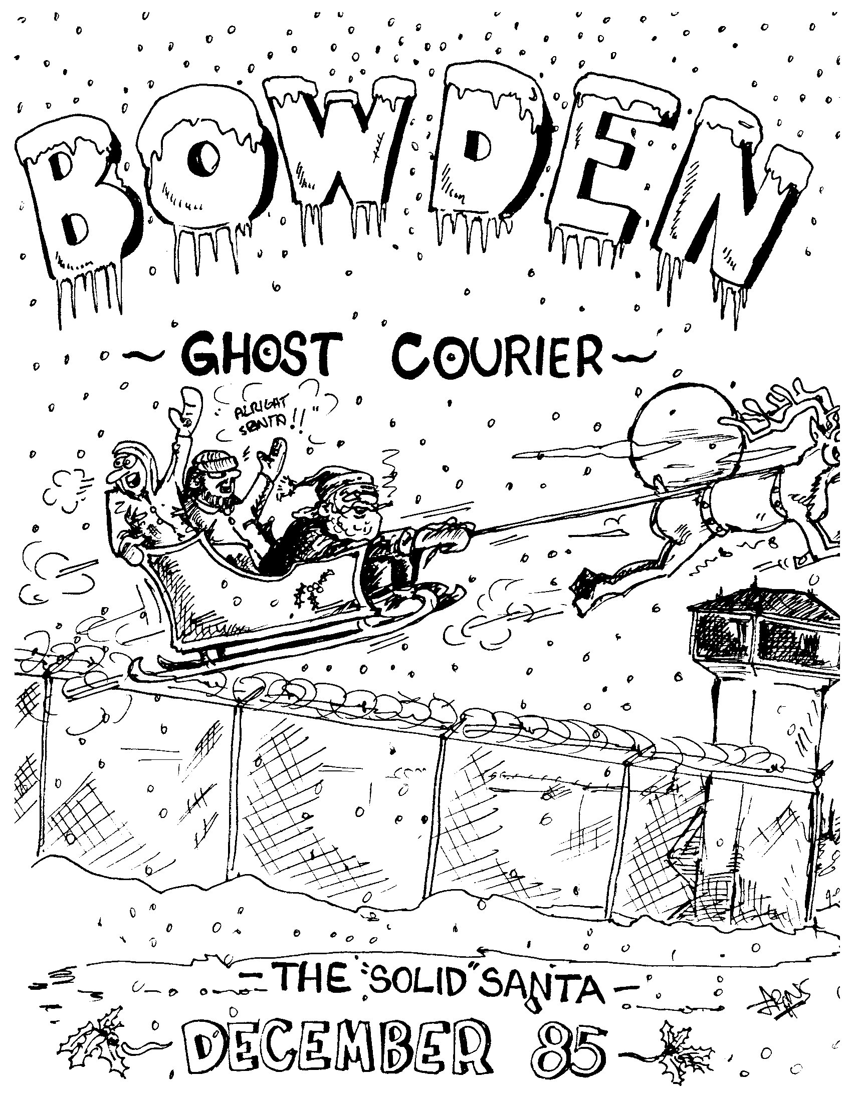 Read more about the article The Bowden Ghost Courier – December 1985