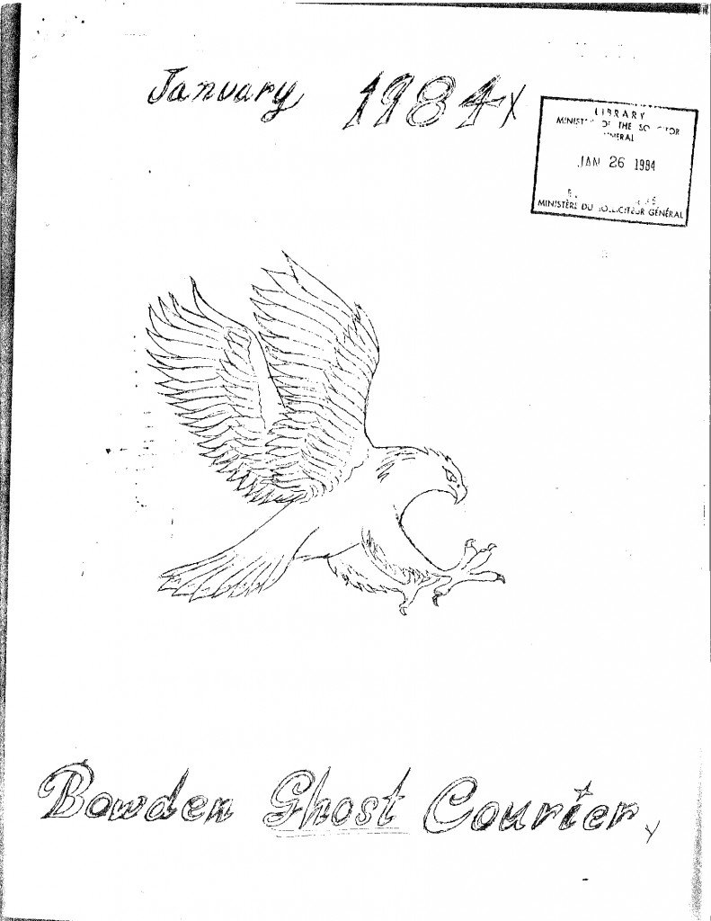 Read more about the article The Bowden Ghost Courier – January 1984