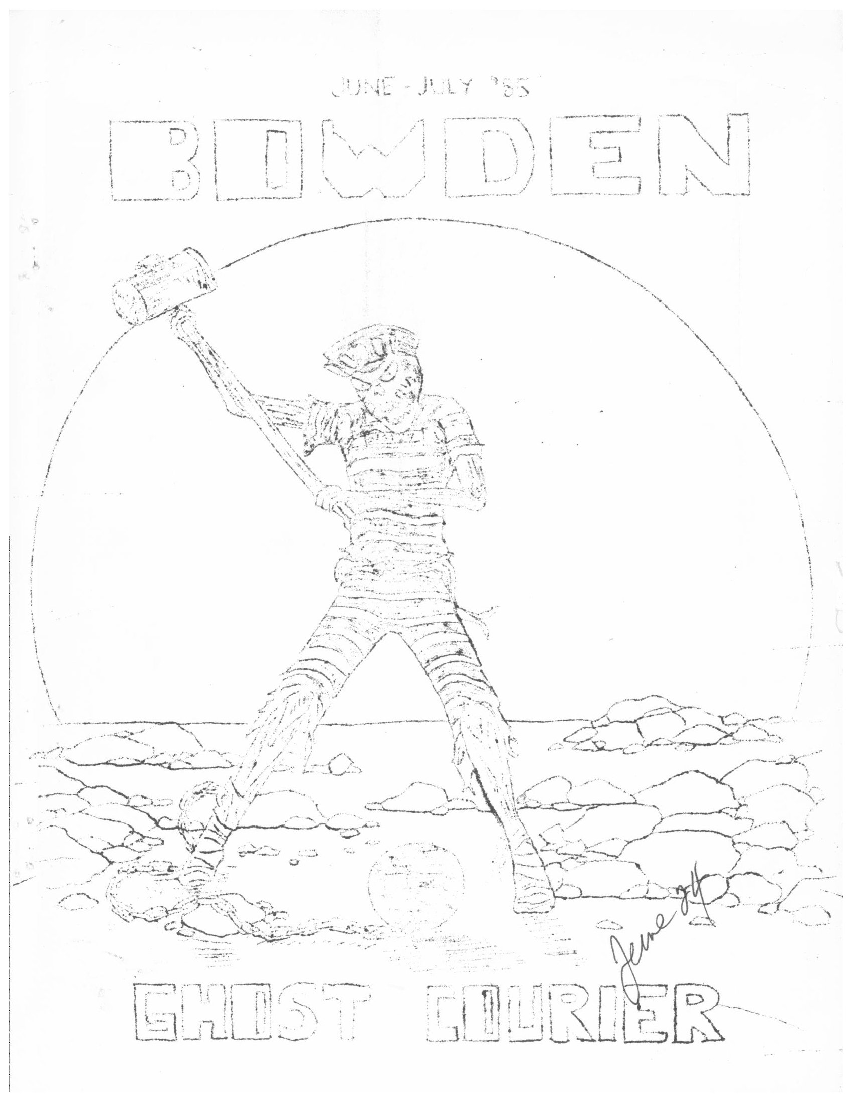 Read more about the article The Bowden Ghost Courier – Jun/Jly 1985