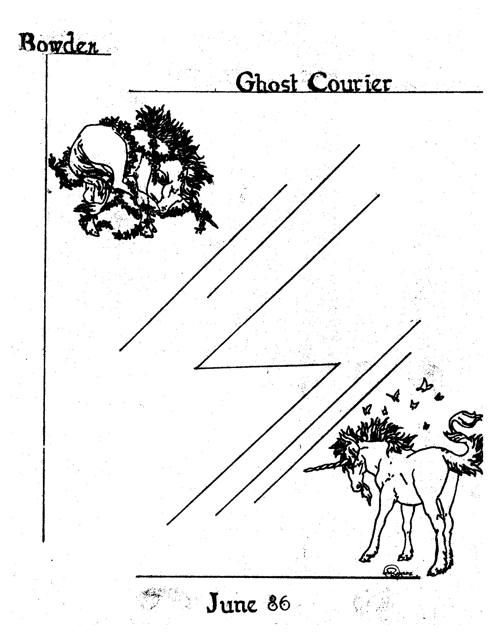 Read more about the article The Bowden Ghost Courier – June 1986