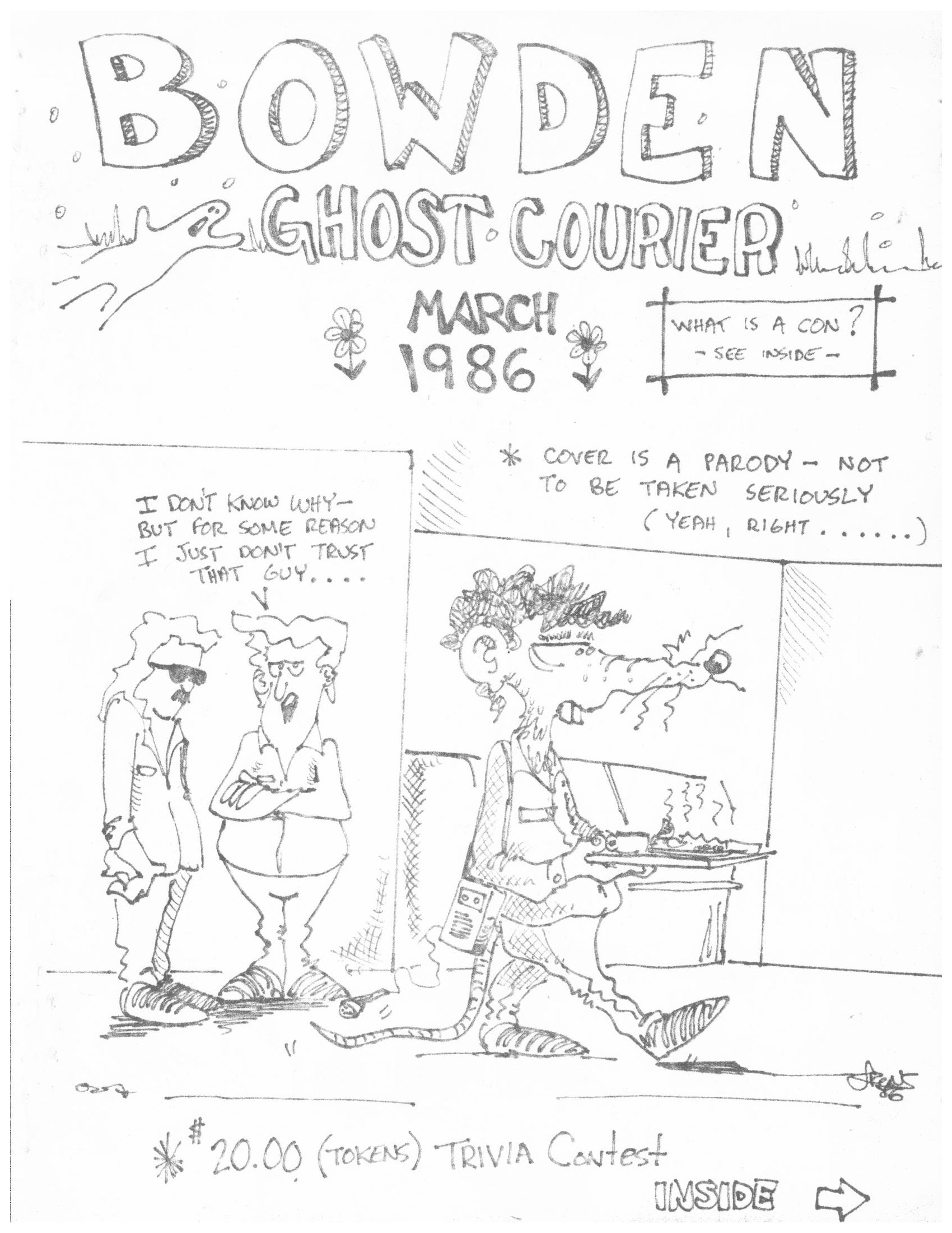Read more about the article The Bowden Ghost Courier – March 1986