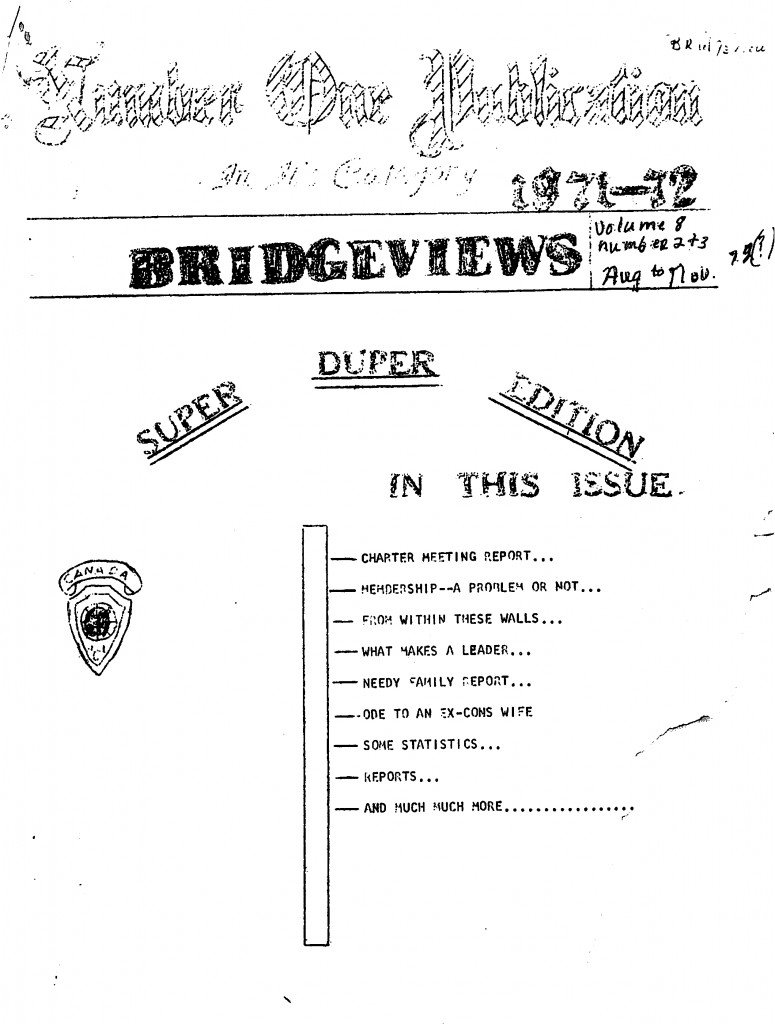 Read more about the article Bridgeviews – August-November 1972