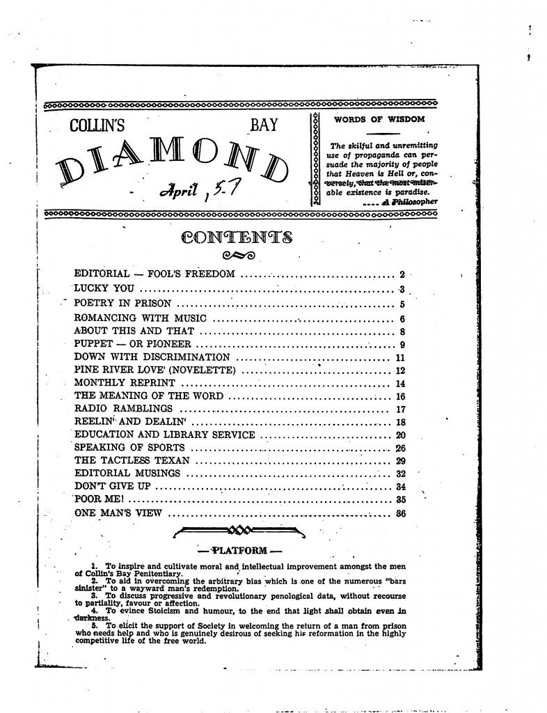 Read more about the article C.B. Diamond – April 1957