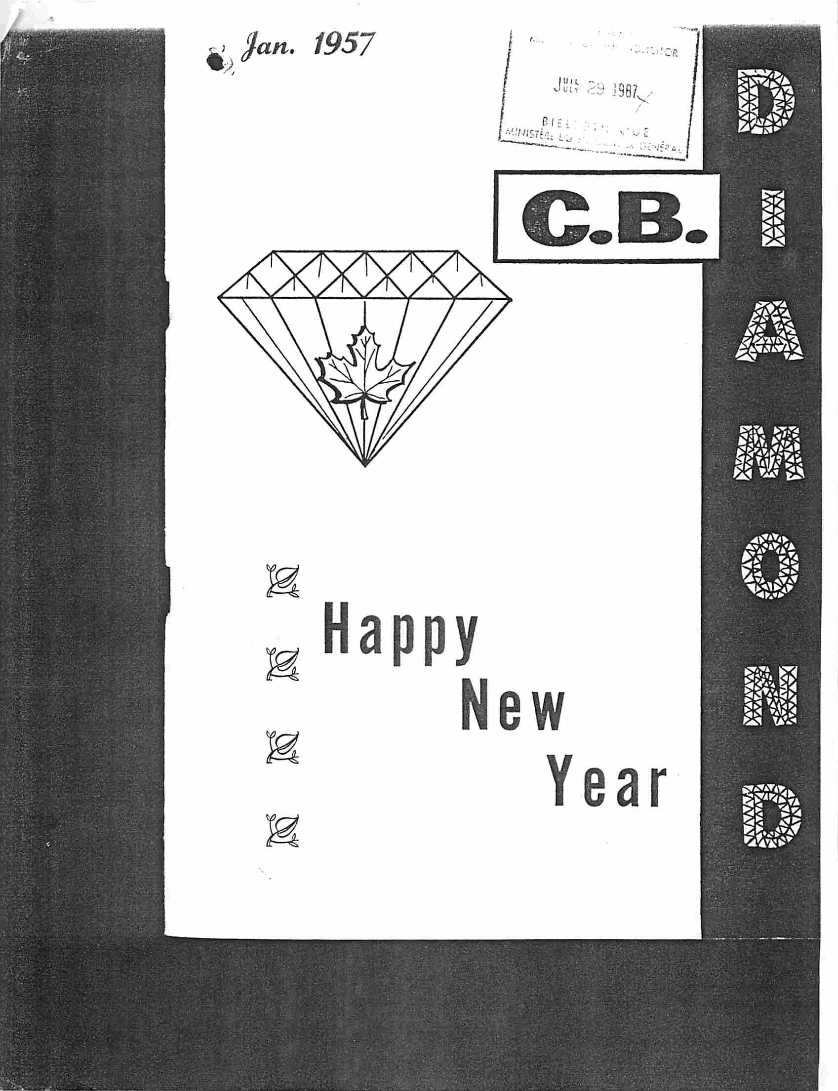 Read more about the article C.B. Diamond – January 1957