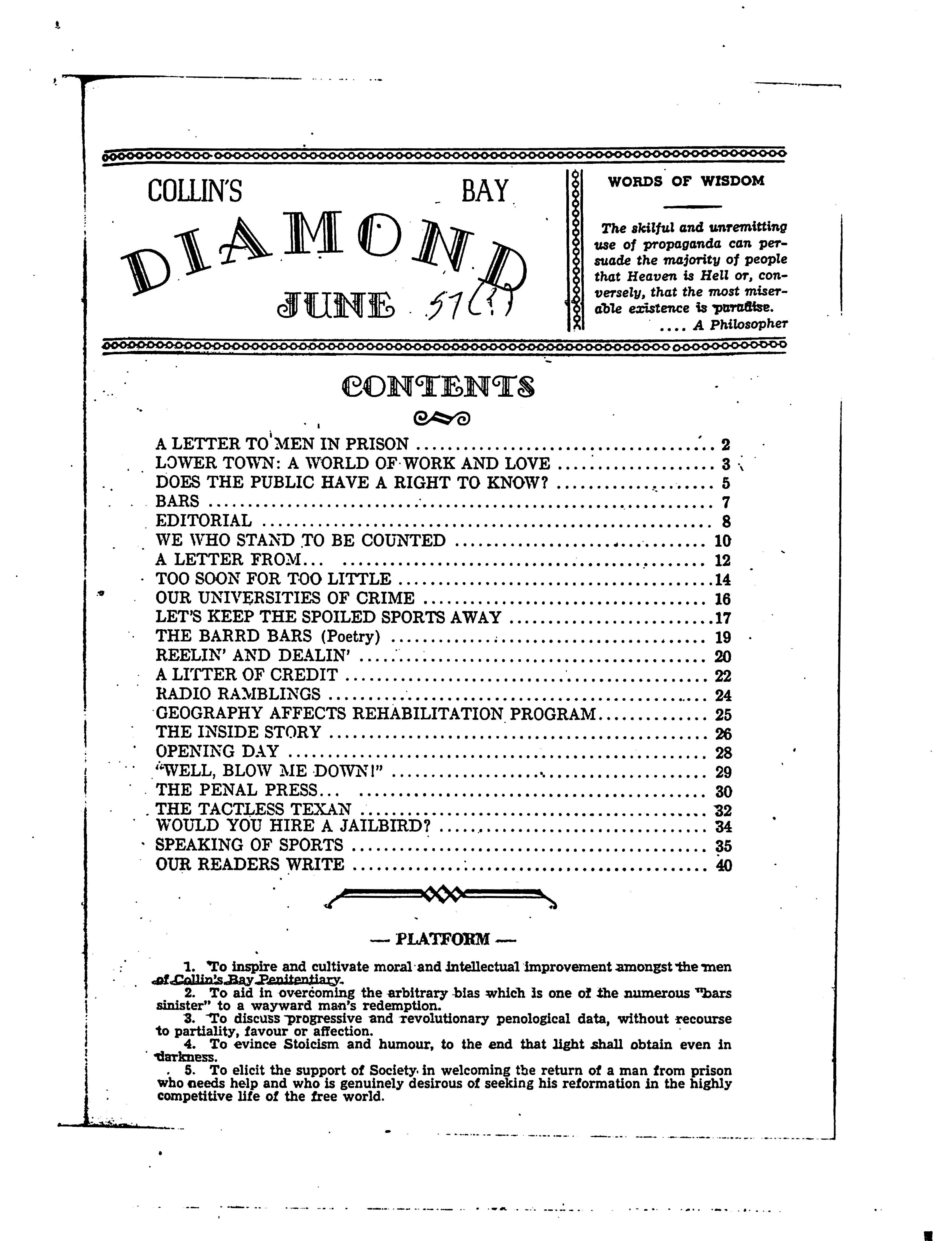 Read more about the article C.B. Diamond – June 1957