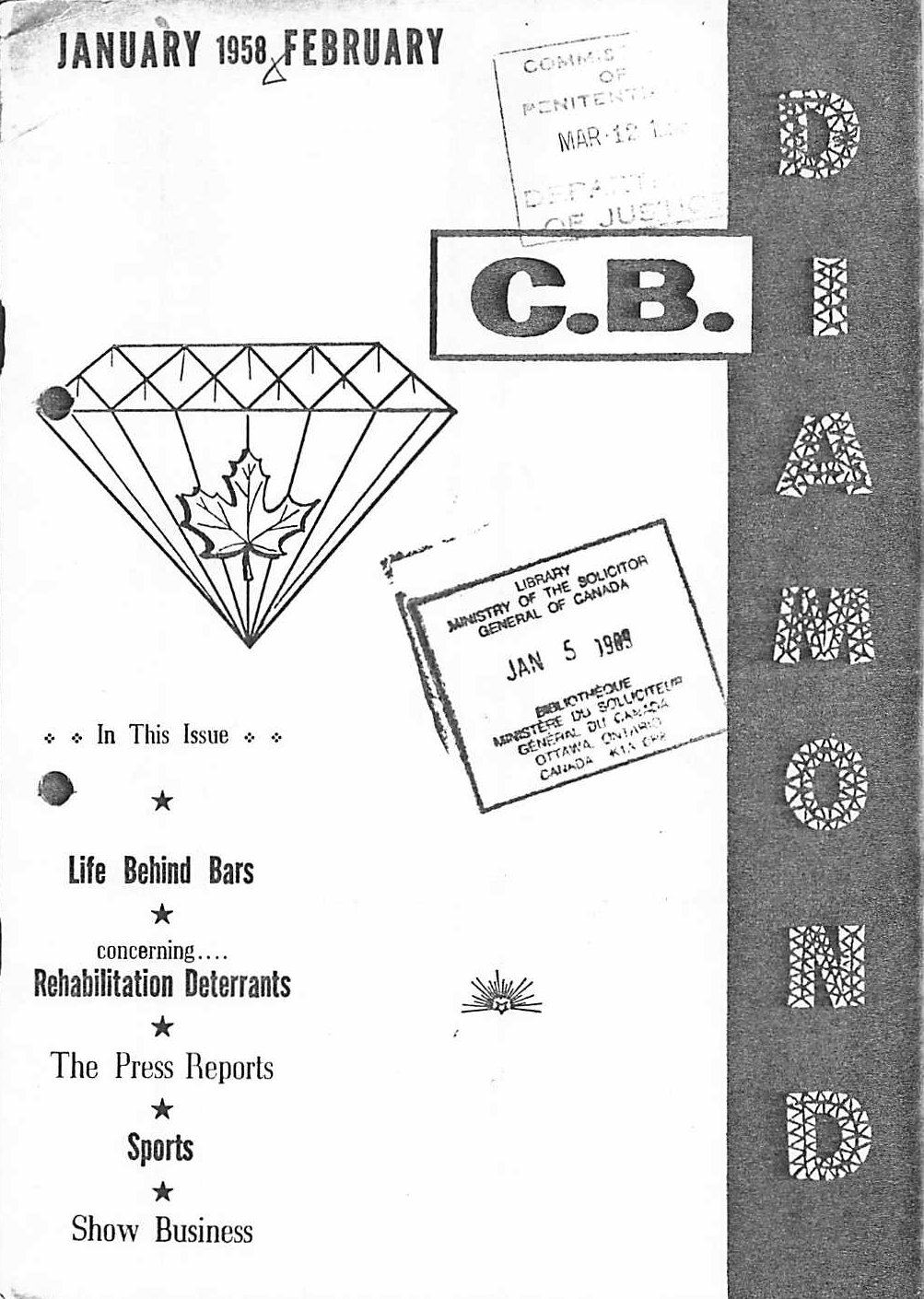 Read more about the article C.B. Diamond – Jan/Feb 1958