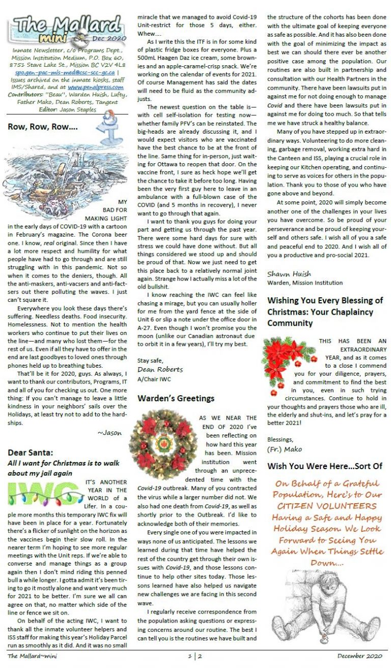 Read more about the article The Mallard (Mini) December 2020