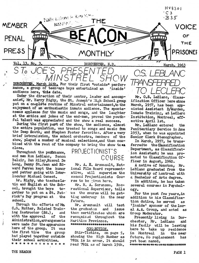 Read more about the article The Beacon Monthly v.13(3)