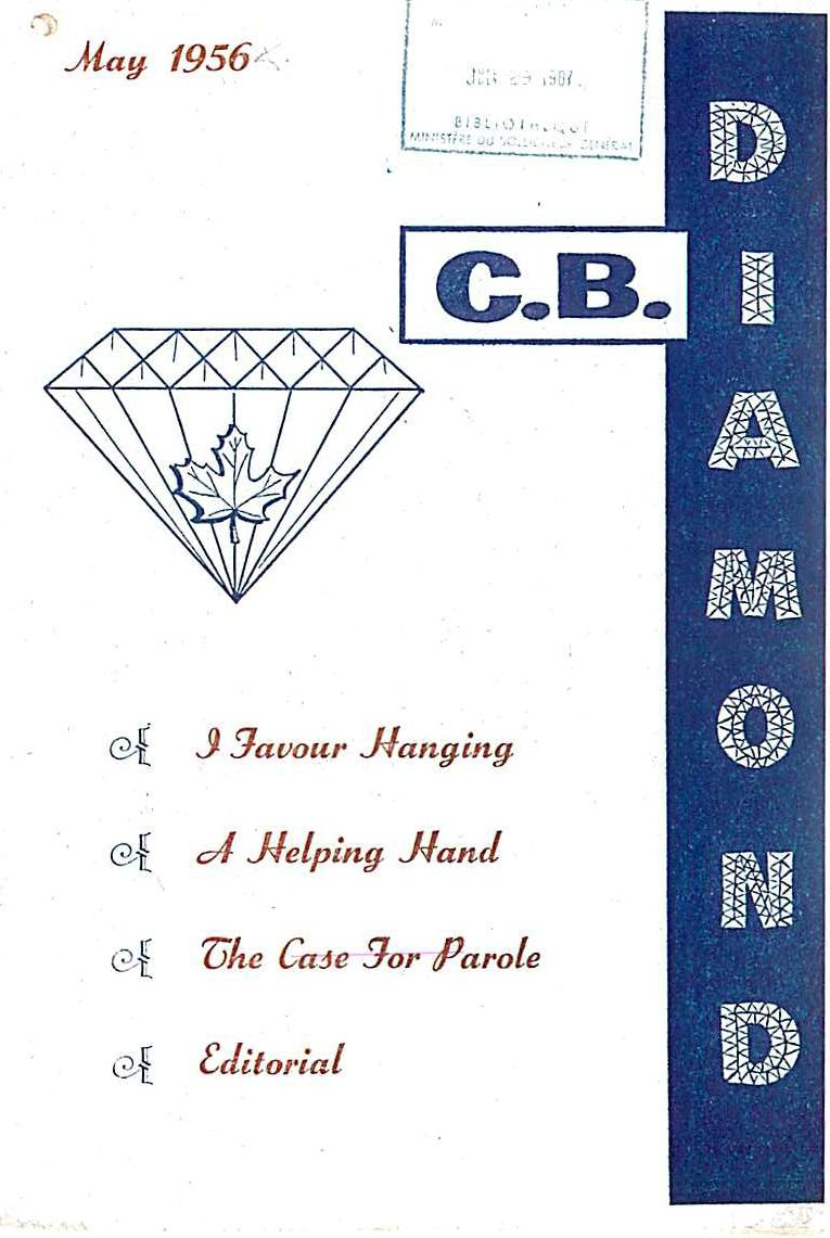 Read more about the article C.B. Diamond – May 1956