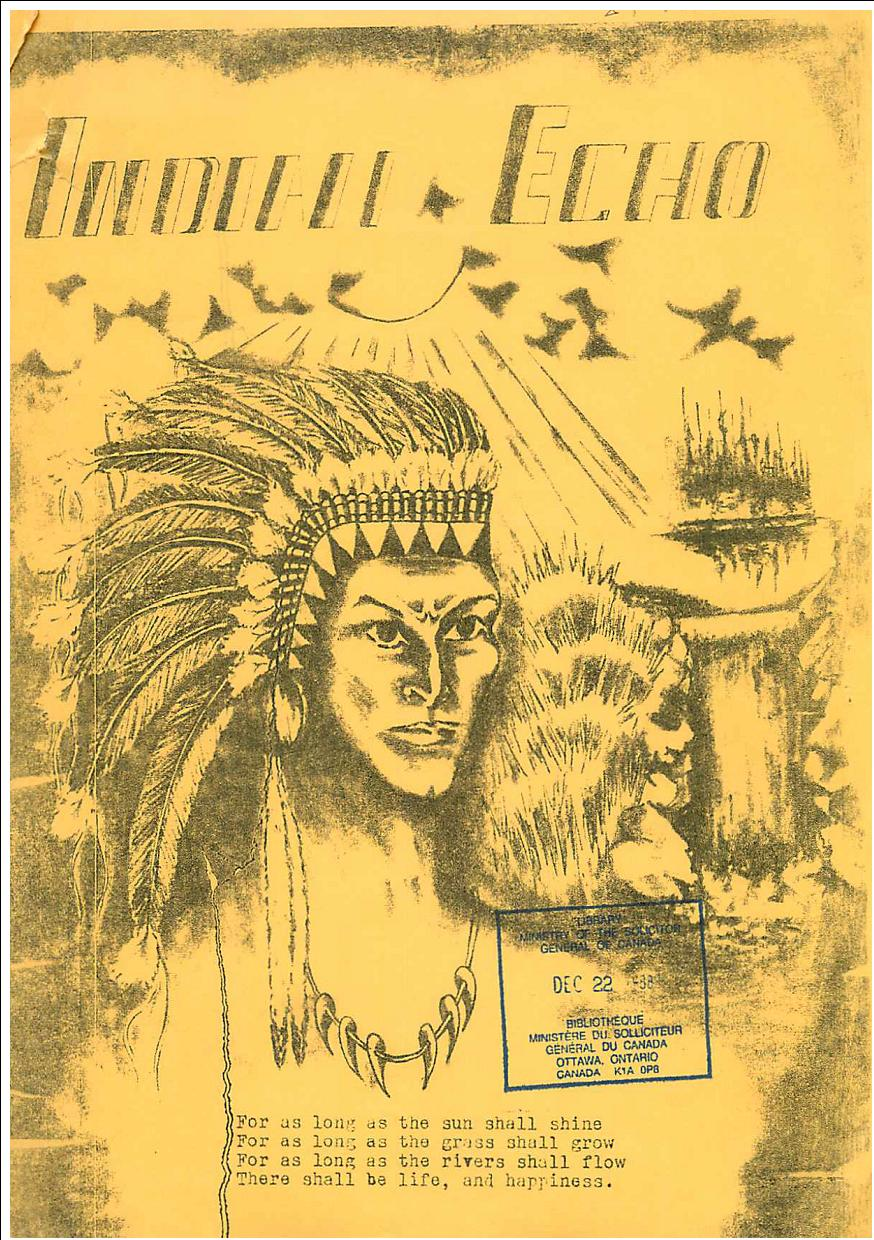 Read more about the article Indian Echo – March 1970