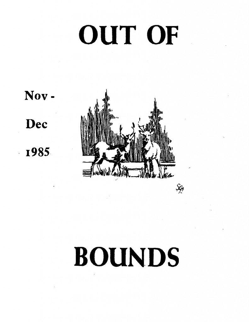 Read more about the article Out of Bounds – Nov/Dec 1985