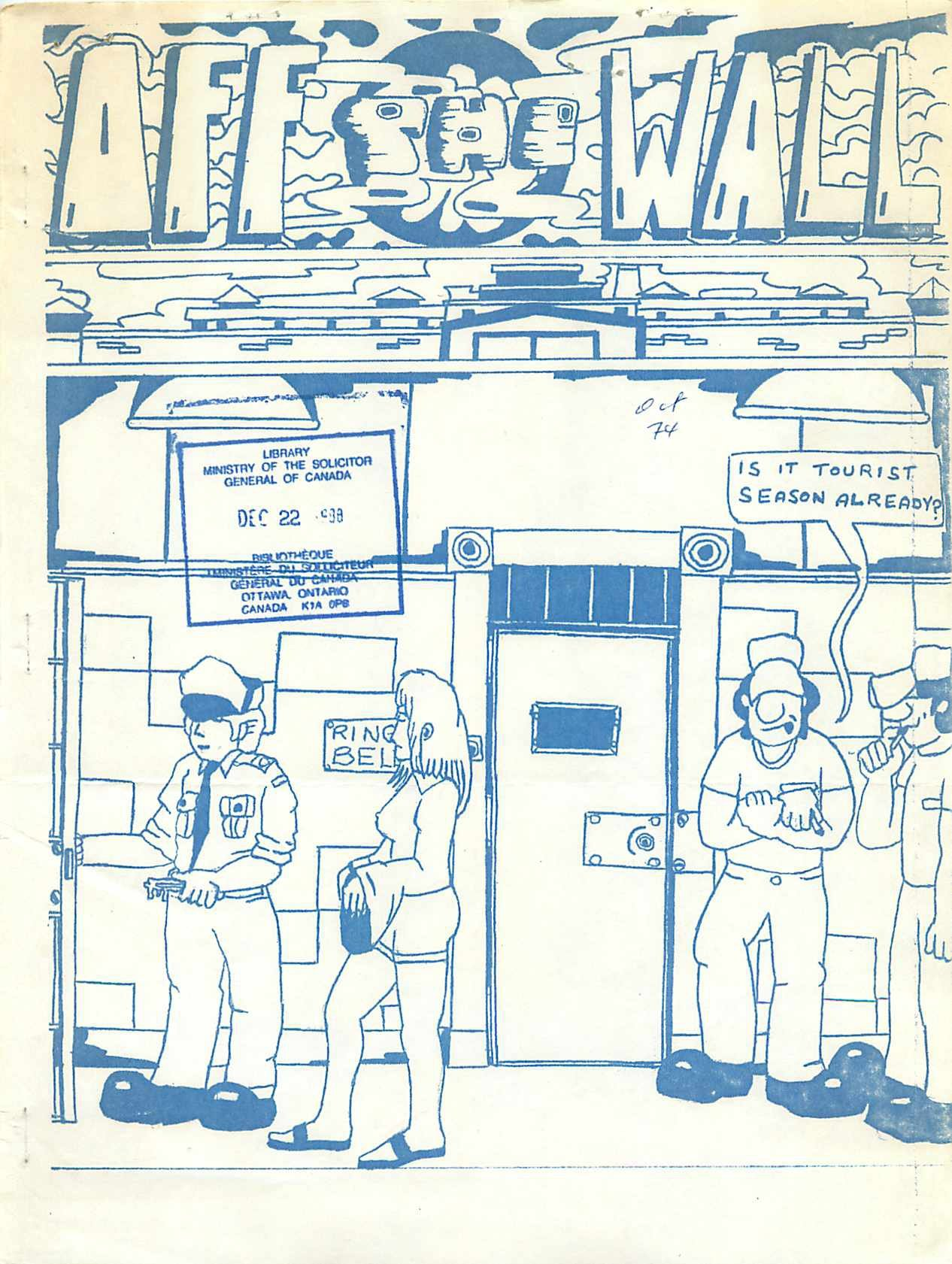 Read more about the article Off The Wall – October 1974