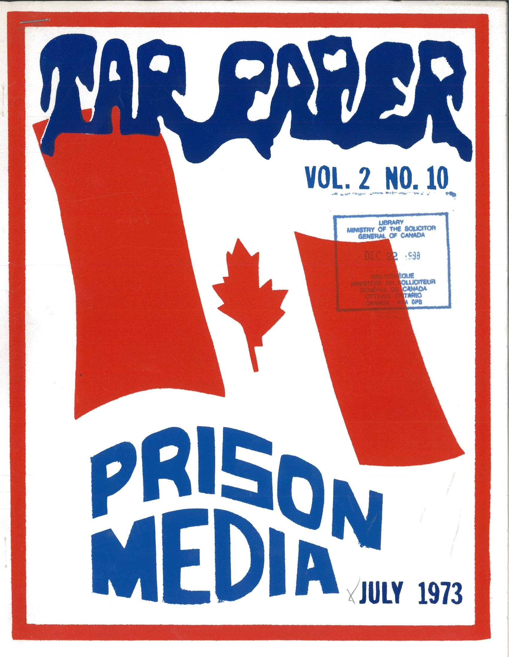 Read more about the article Tarpaper – July 1973