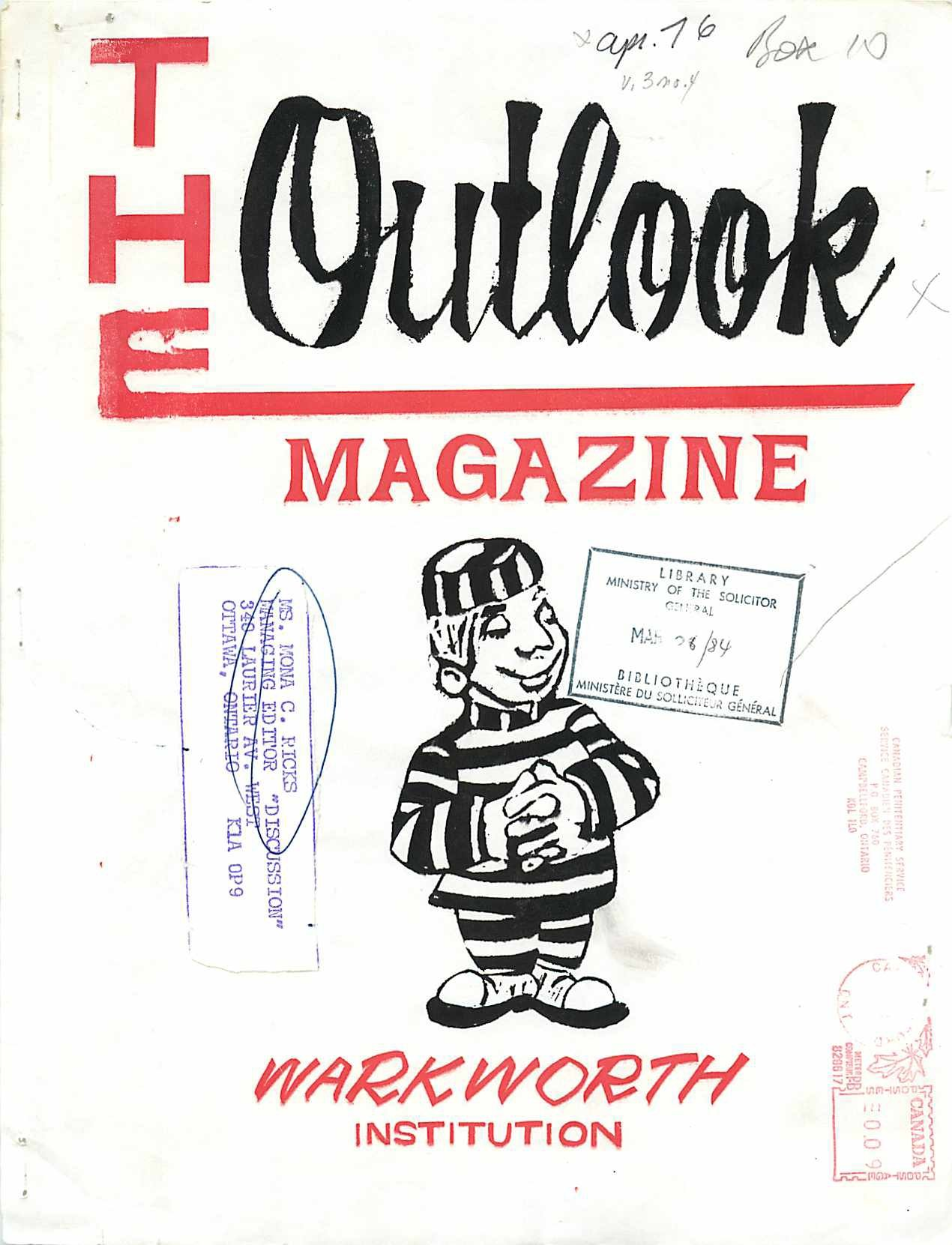 Read more about the article The Outlook – April 1976