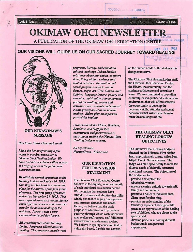 Read more about the article Okimaw Ochi Newsletter