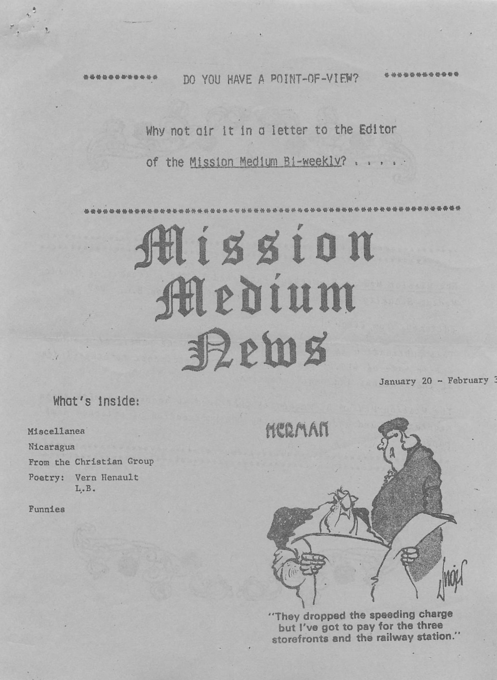Read more about the article Mission Medium – January 20 1984