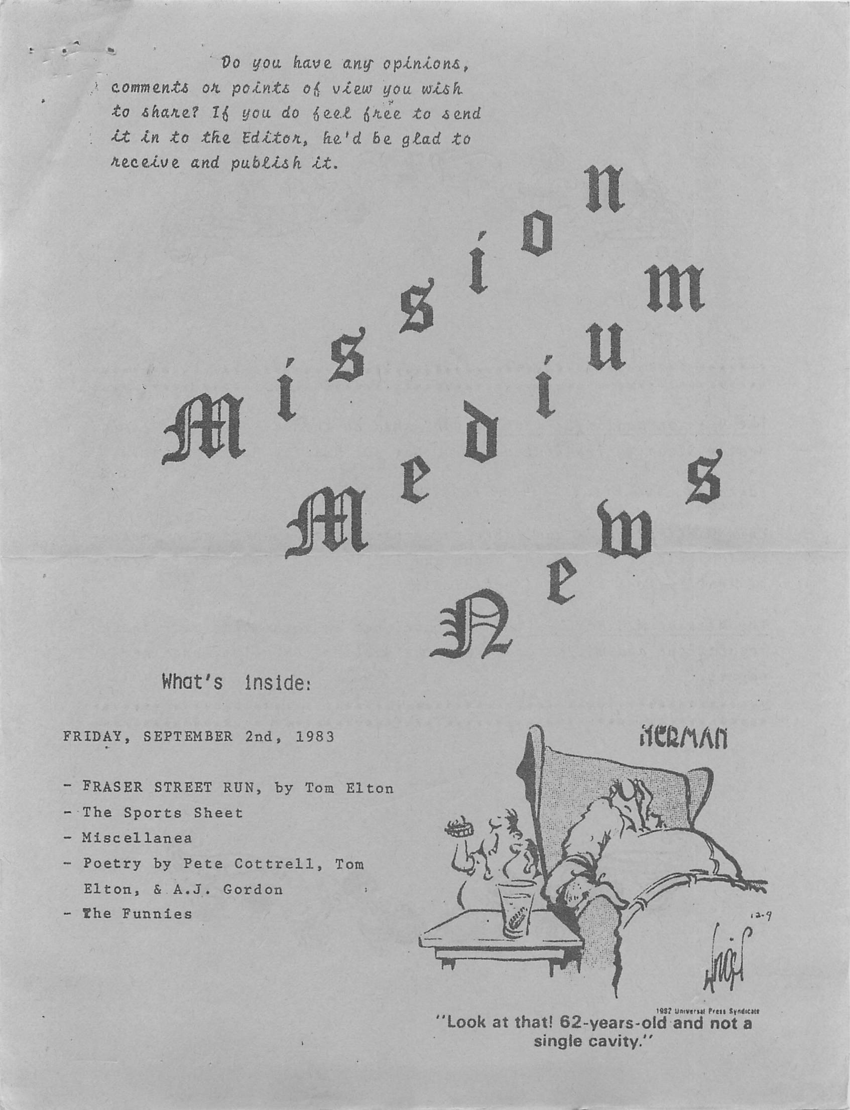 Read more about the article Mission Medium – September 2 1983