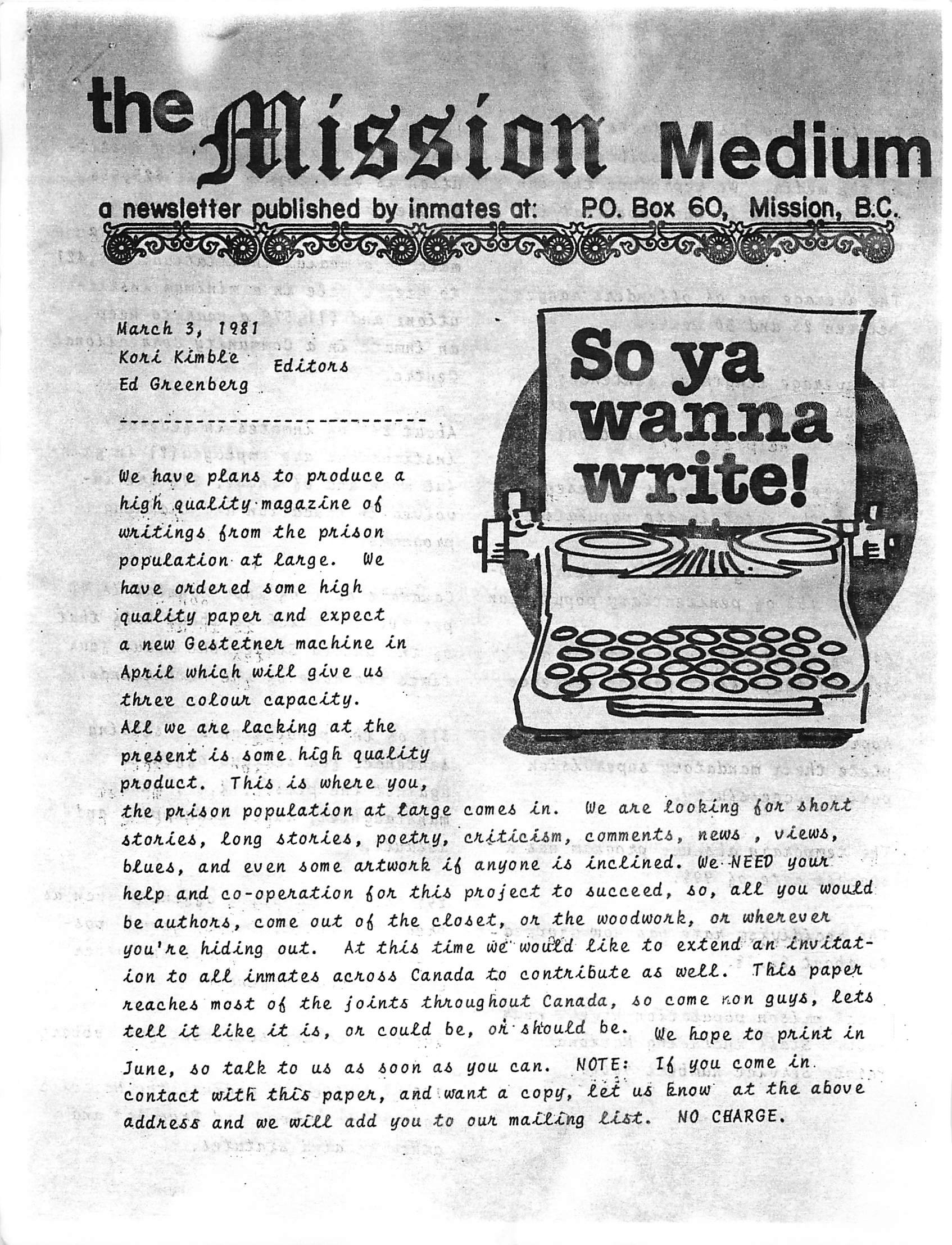 Read more about the article Mission Medium – March 5 1981
