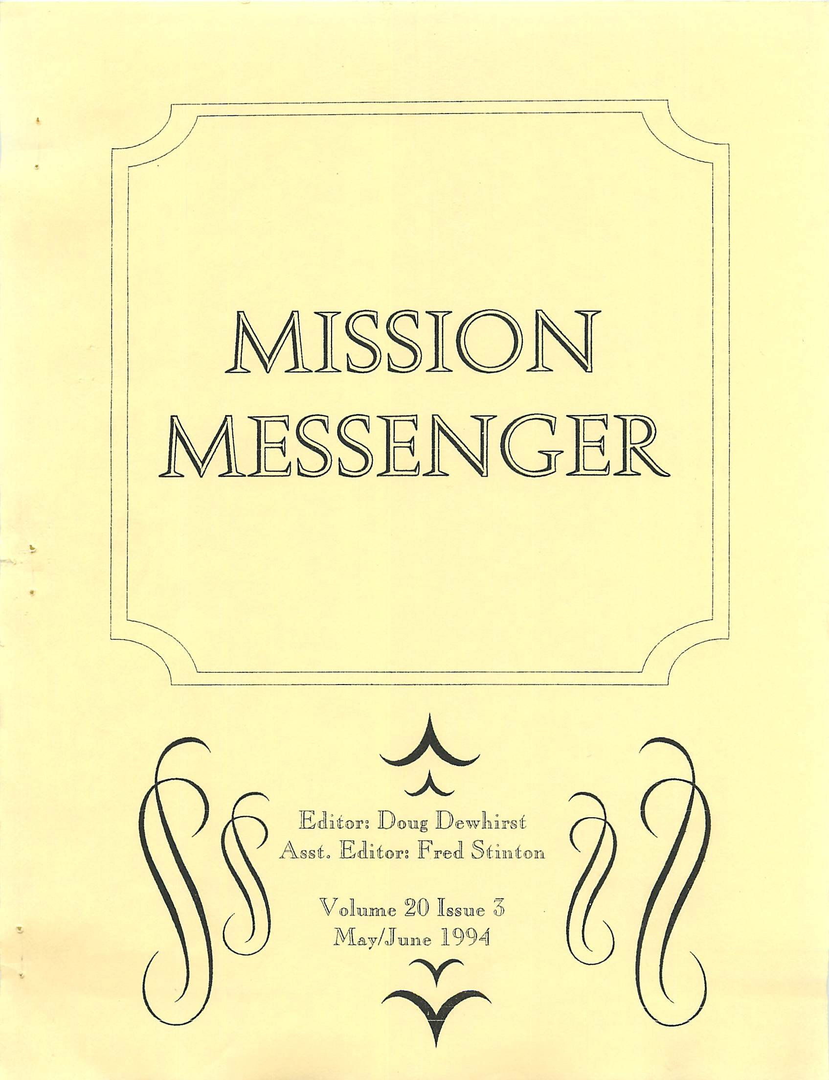 Read more about the article Mission Messenger – May/June 1994