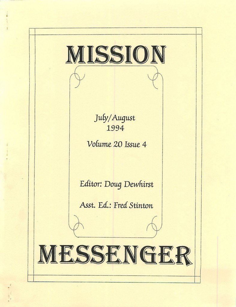 Read more about the article Mission Messenger – July/August 1994