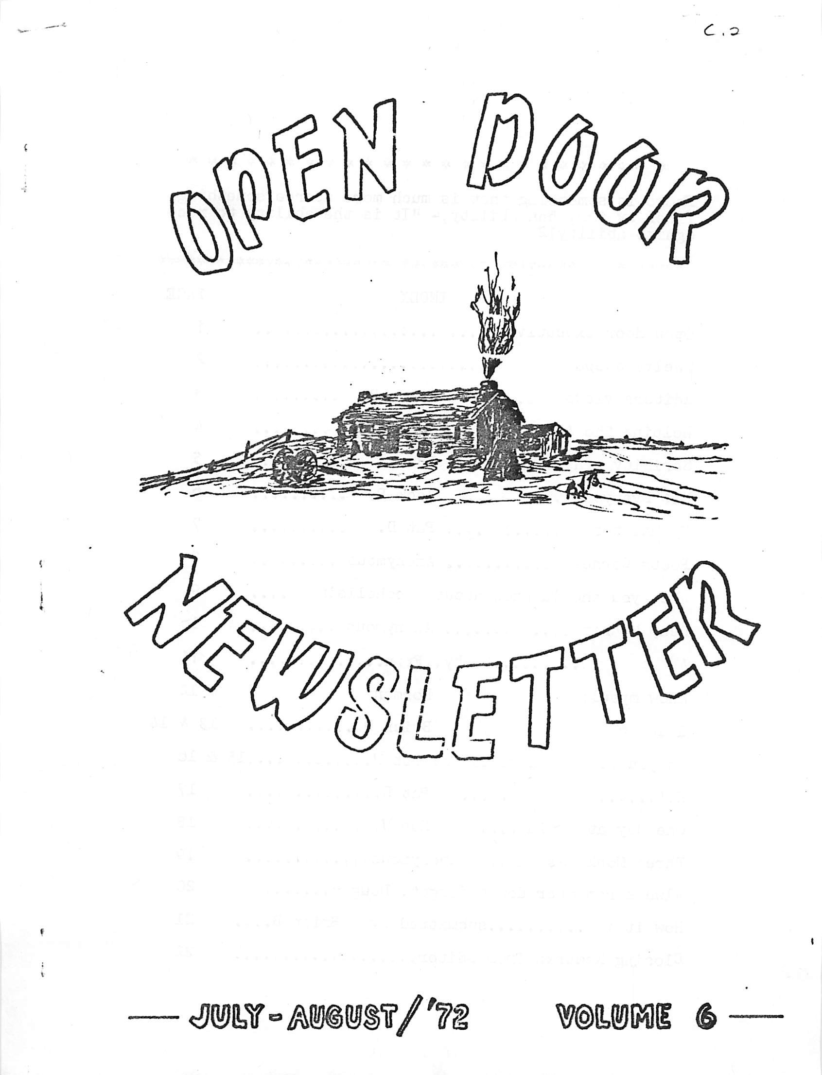 Read more about the article Open Doors – July August 1972