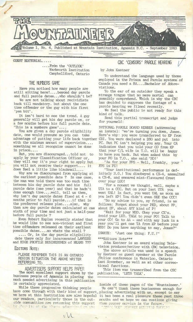 Read more about the article The Mountaineer – September 1983