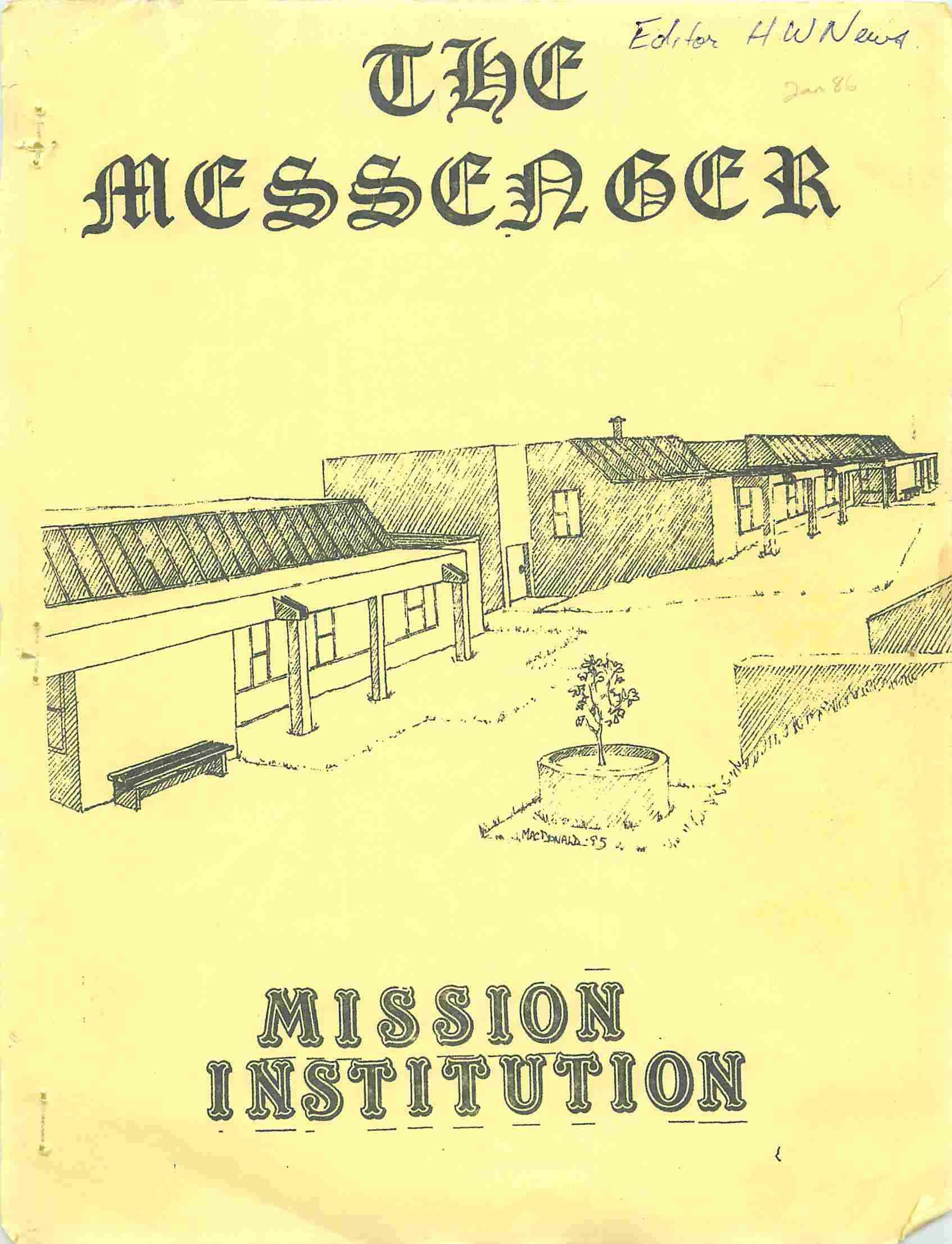 Read more about the article The Messenger – January 1986