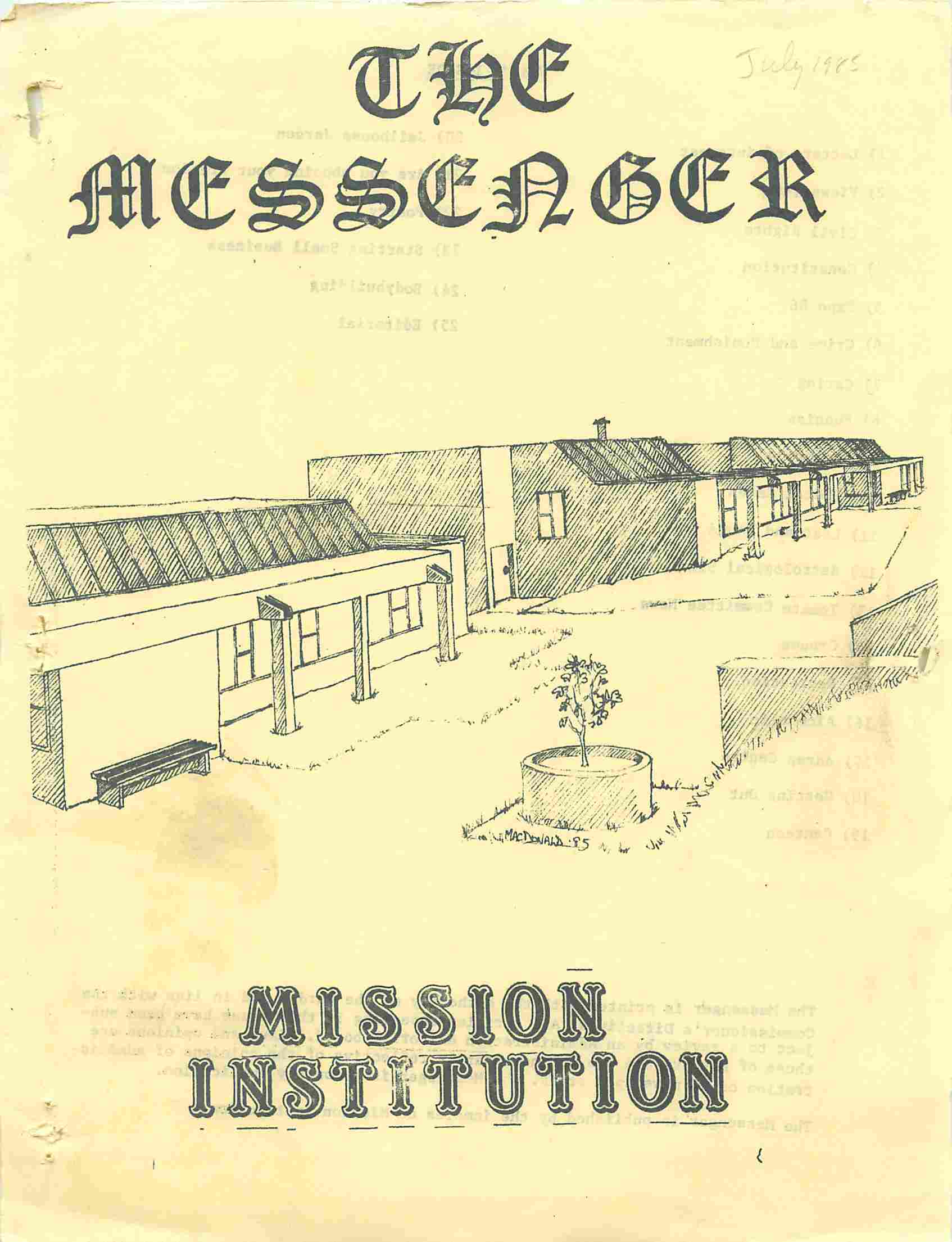 Read more about the article The Messenger – July 1985