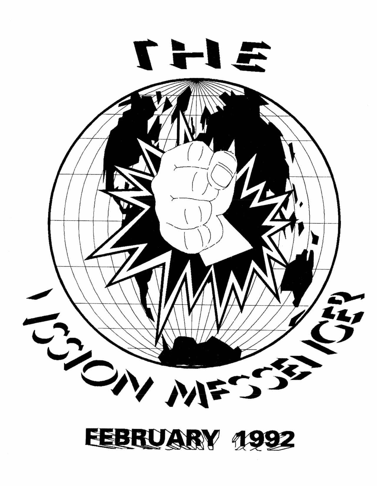 Read more about the article Mission Messenger – February 1992