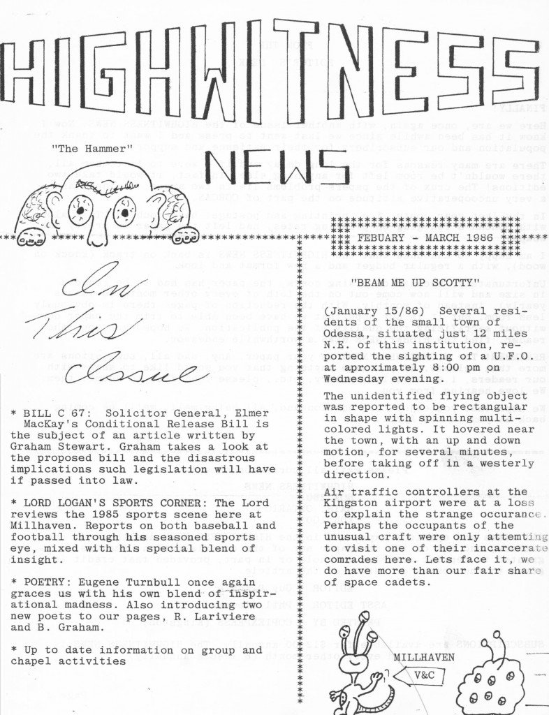 Read more about the article Highwitness News – Feb/Mar 1986