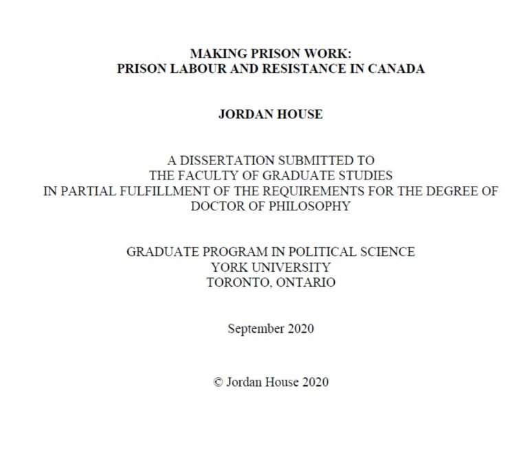 Read more about the article Making Prison Work: Prison Labour and Resistance in Canada