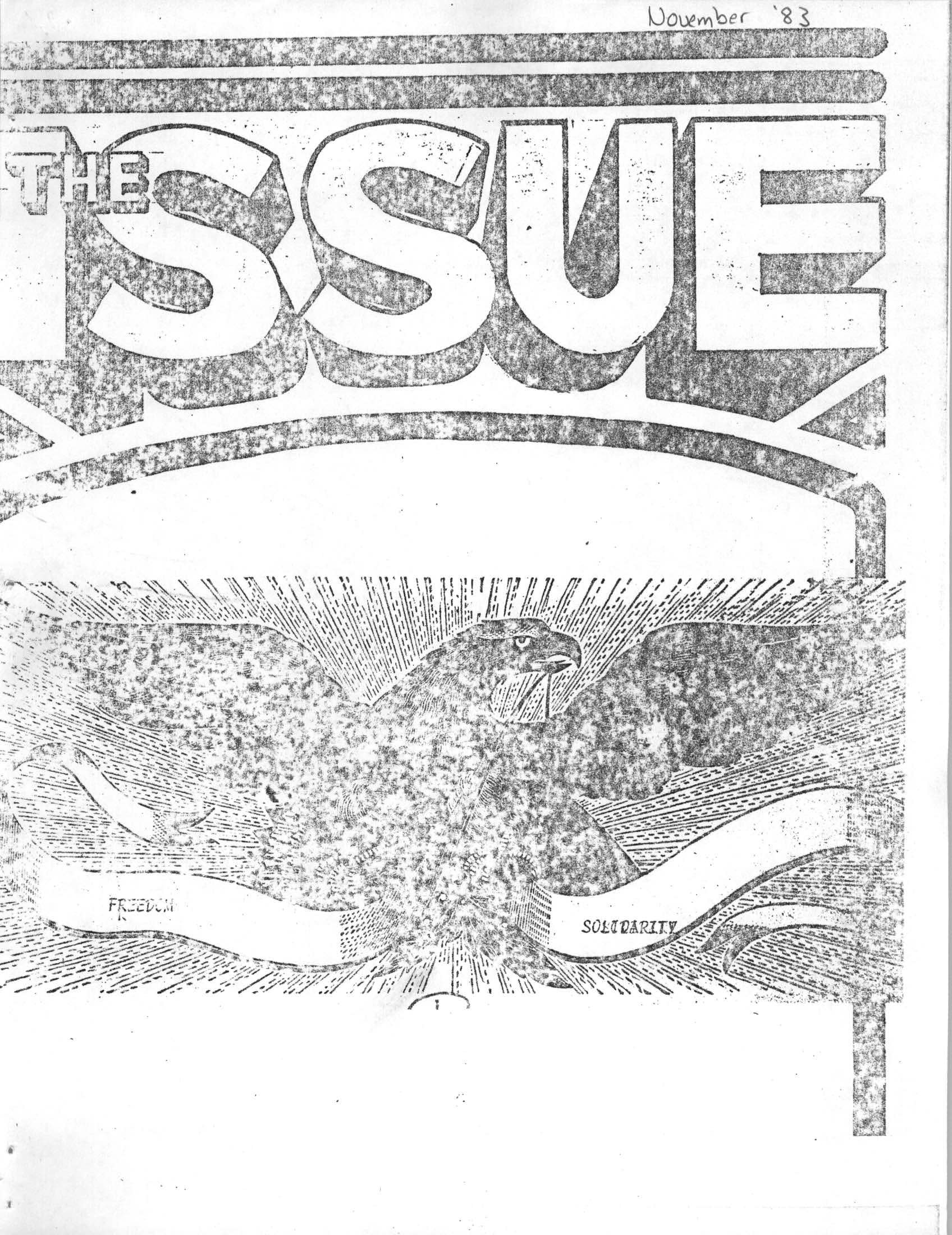 Read more about the article The Issue – November 1983