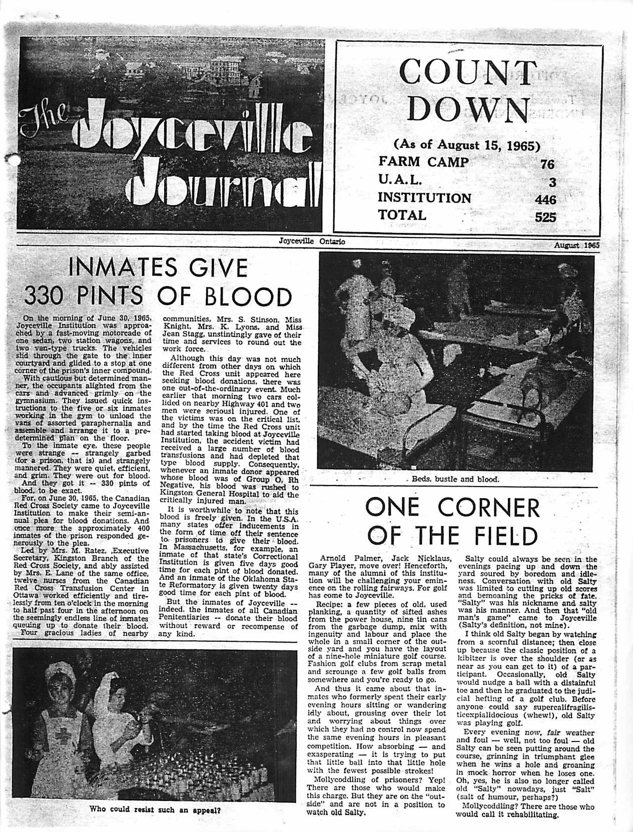 Read more about the article Joyceville Journal – August 1965