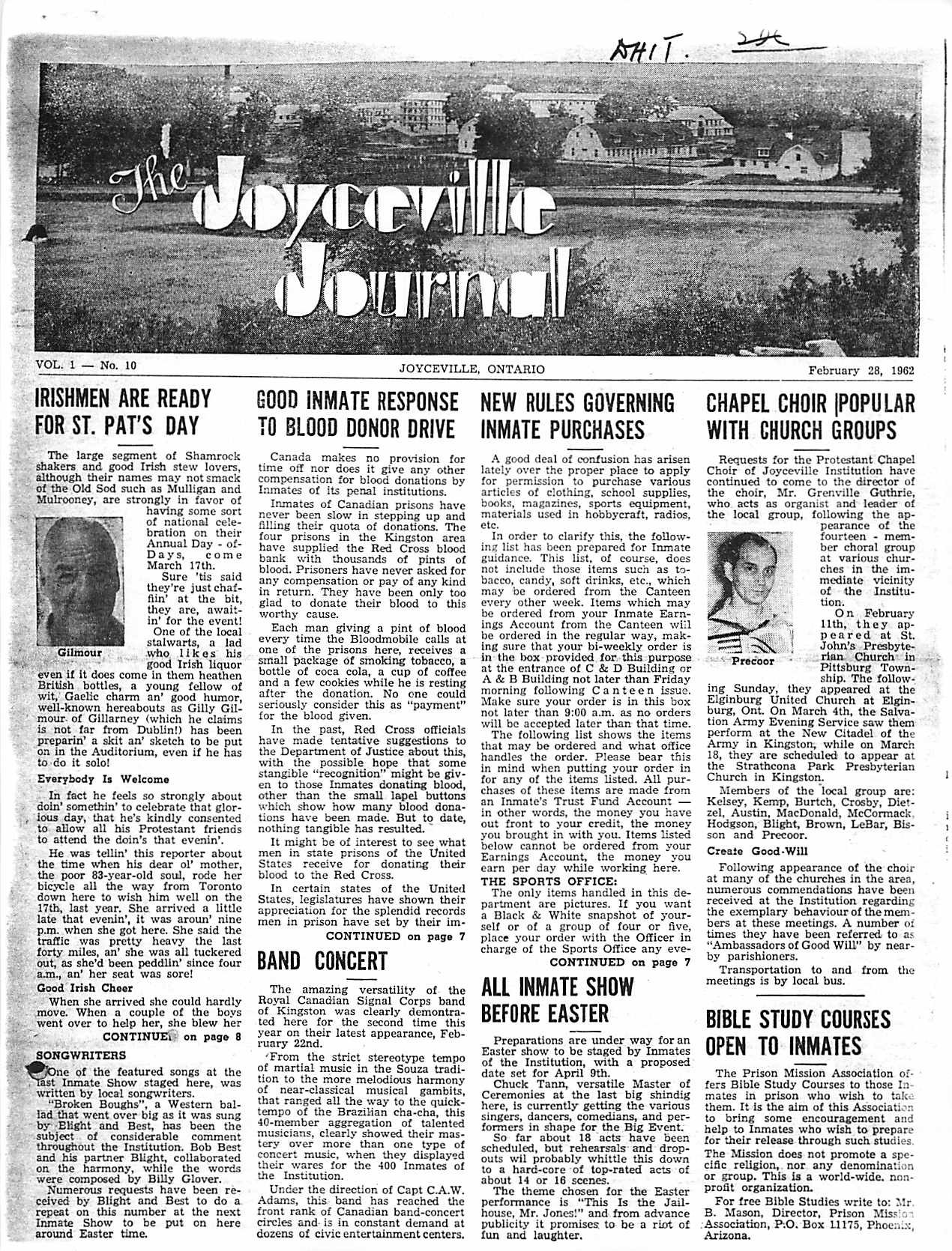 Read more about the article Joyceville Journal v1(10)