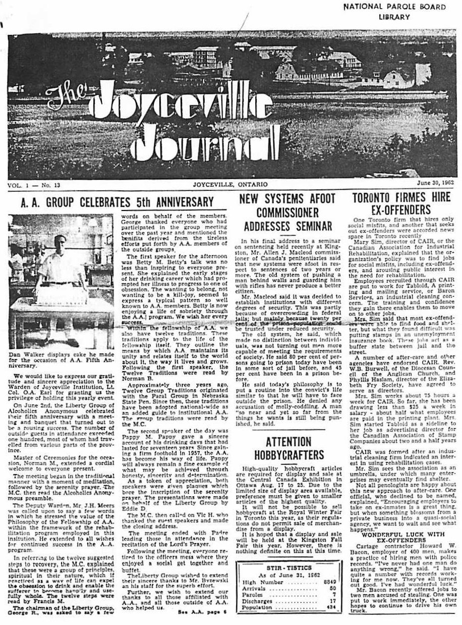 Read more about the article Joyceville Journal v1(13)