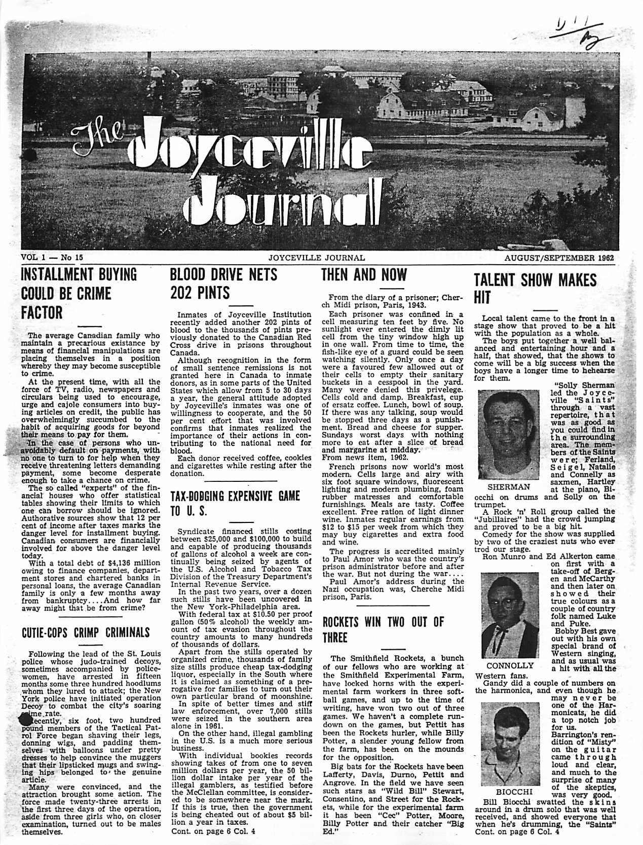 Read more about the article Joyceville Journal v1(15)