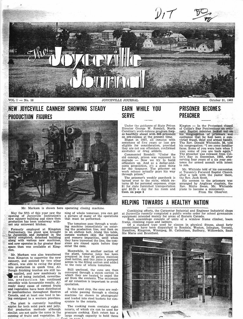 Read more about the article Joyceville Journal v1(16)