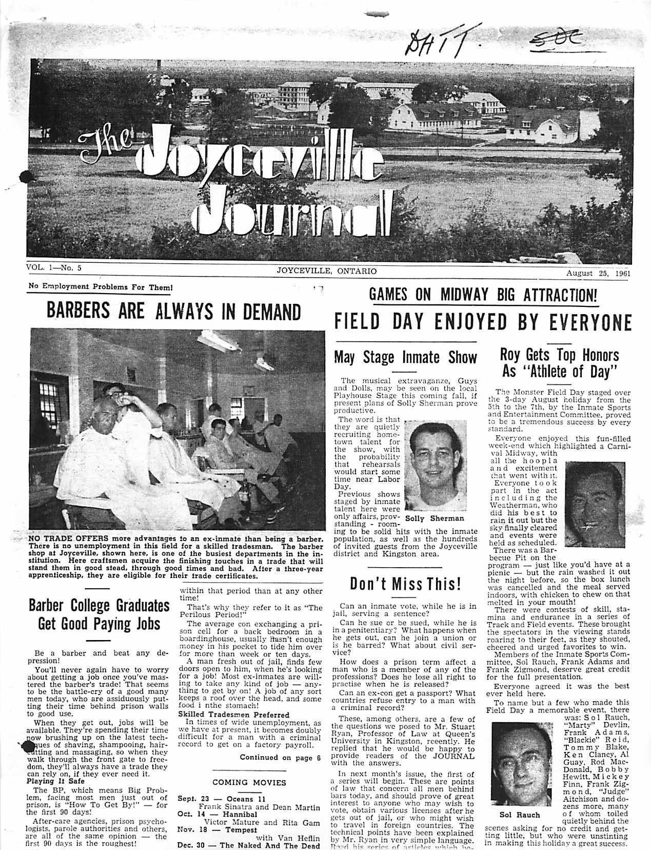 Read more about the article Joyceville Journal v1(5)