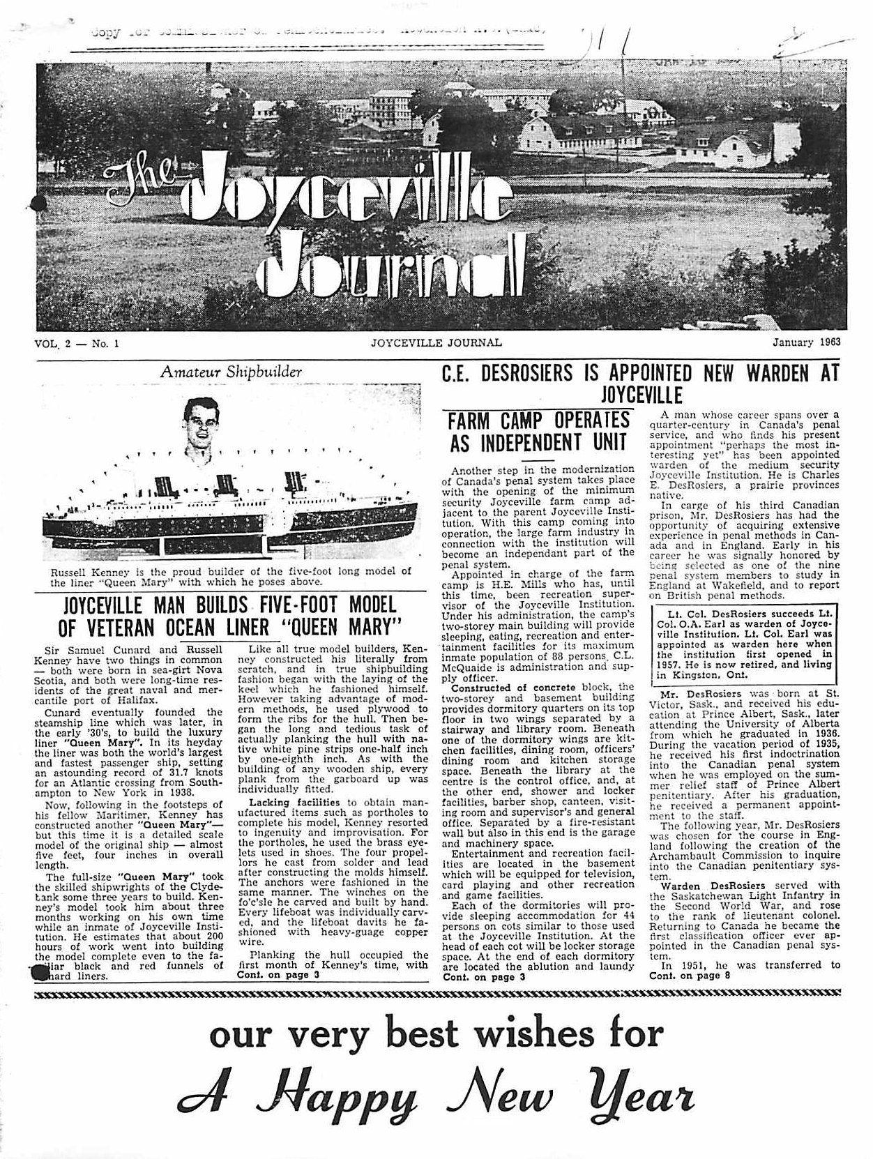 Read more about the article Joyceville Journal v2(1)