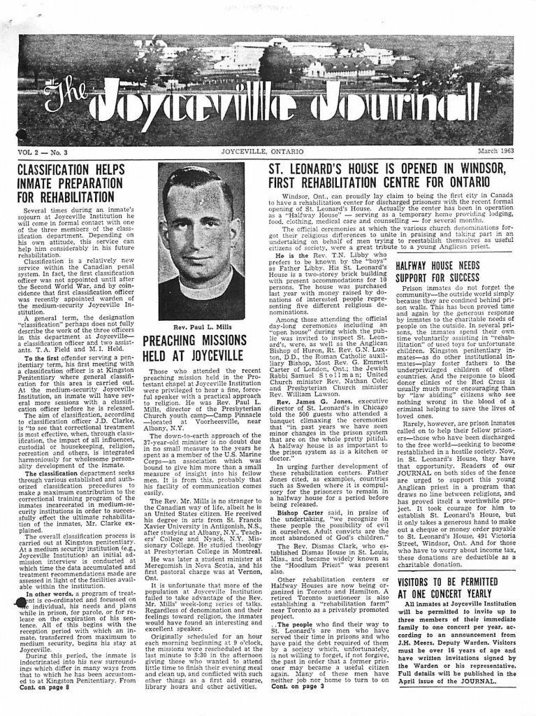Read more about the article Joyceville Journal v2(3)