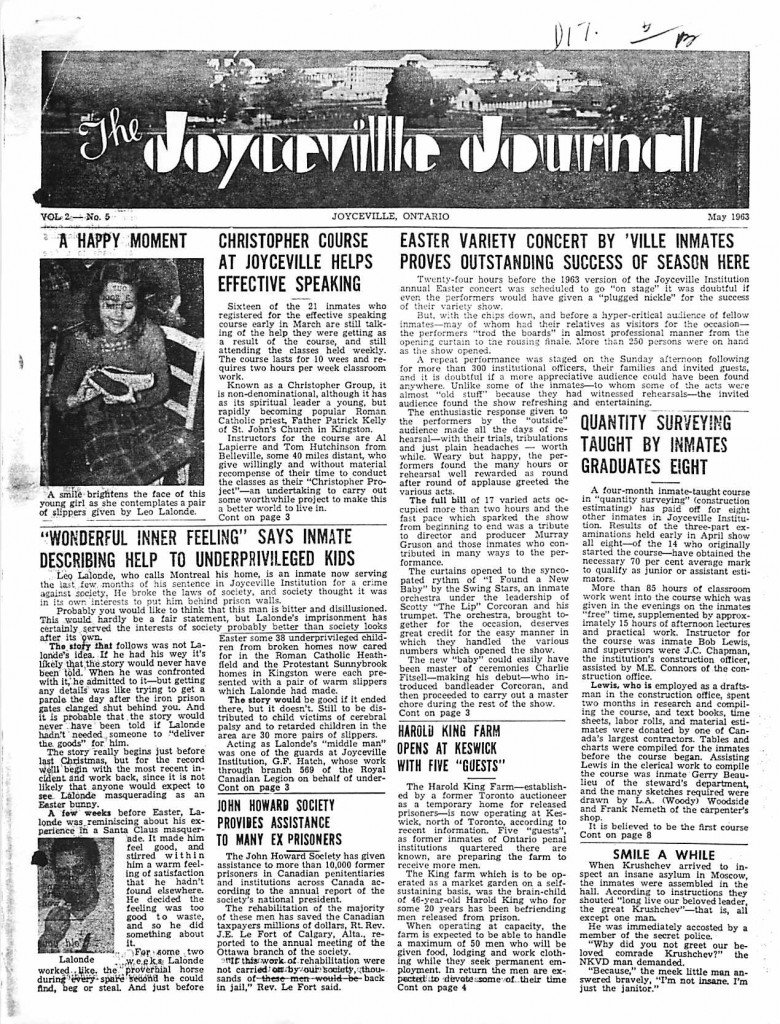 Read more about the article Joyceville Journal v2(5)
