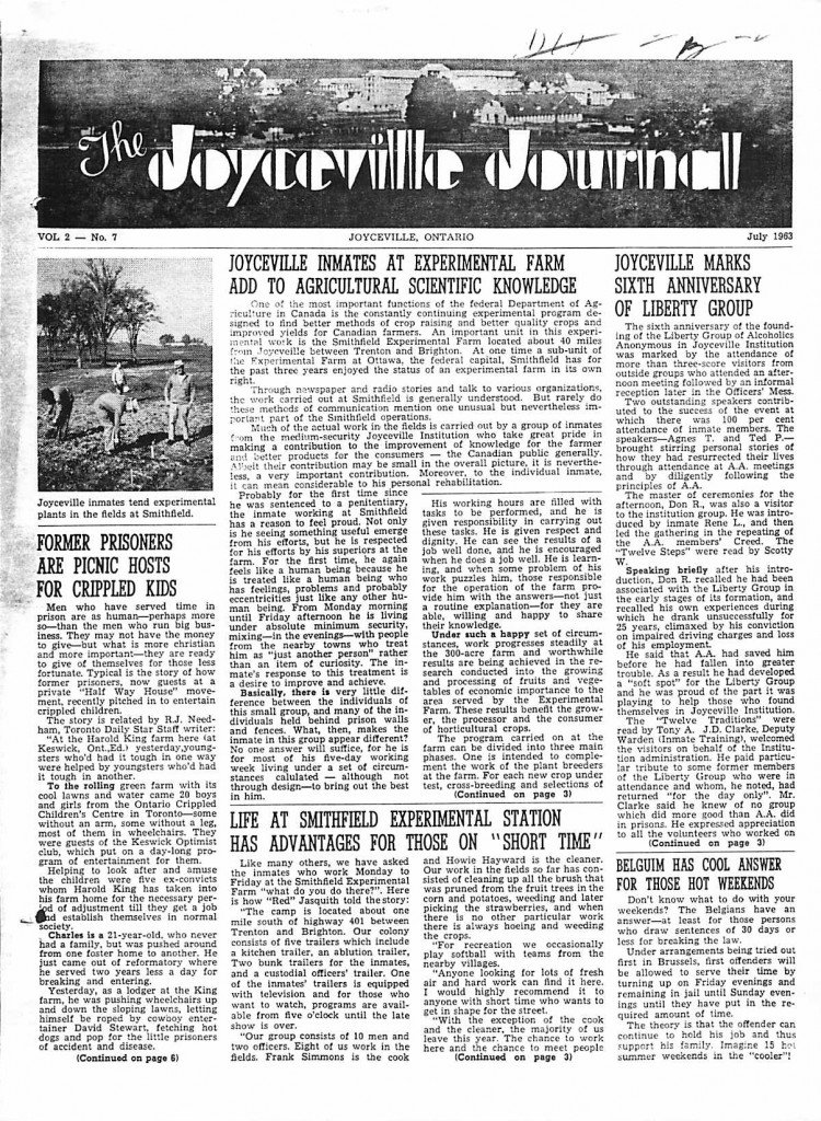 Read more about the article Joyceville Journal v2(7)