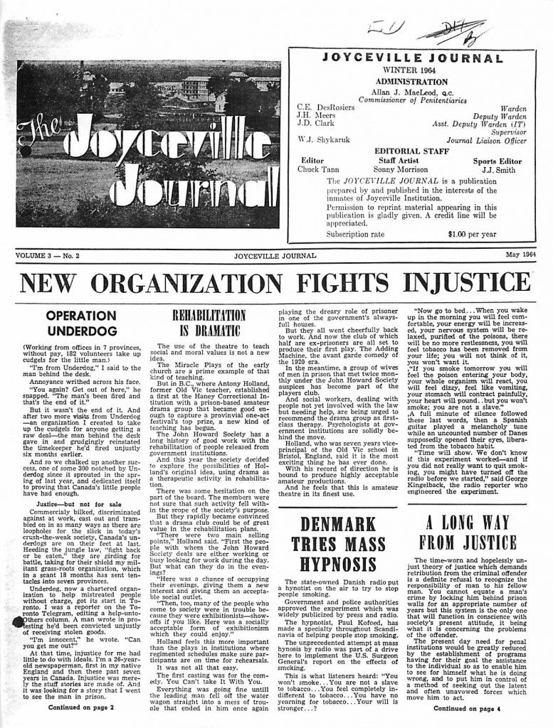Read more about the article Joyceville Journal v3(2)