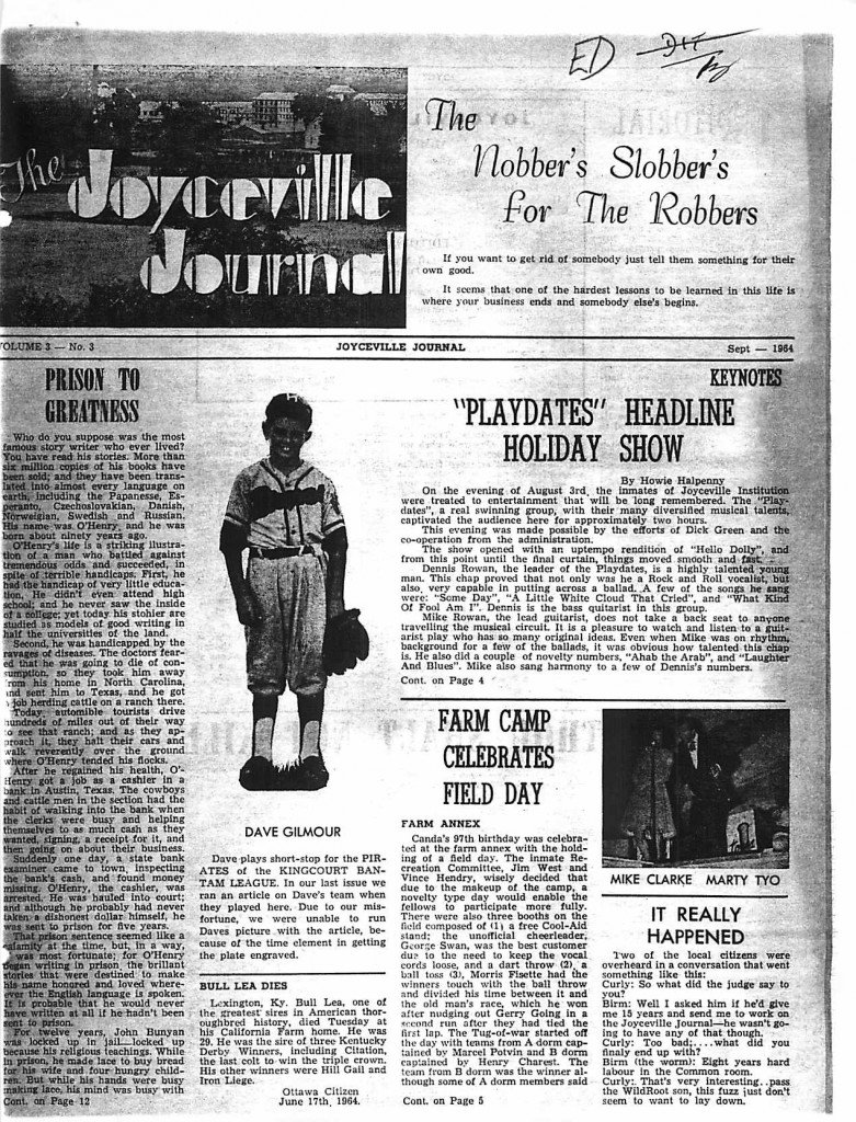 Read more about the article Joyceville Journal – September 1964